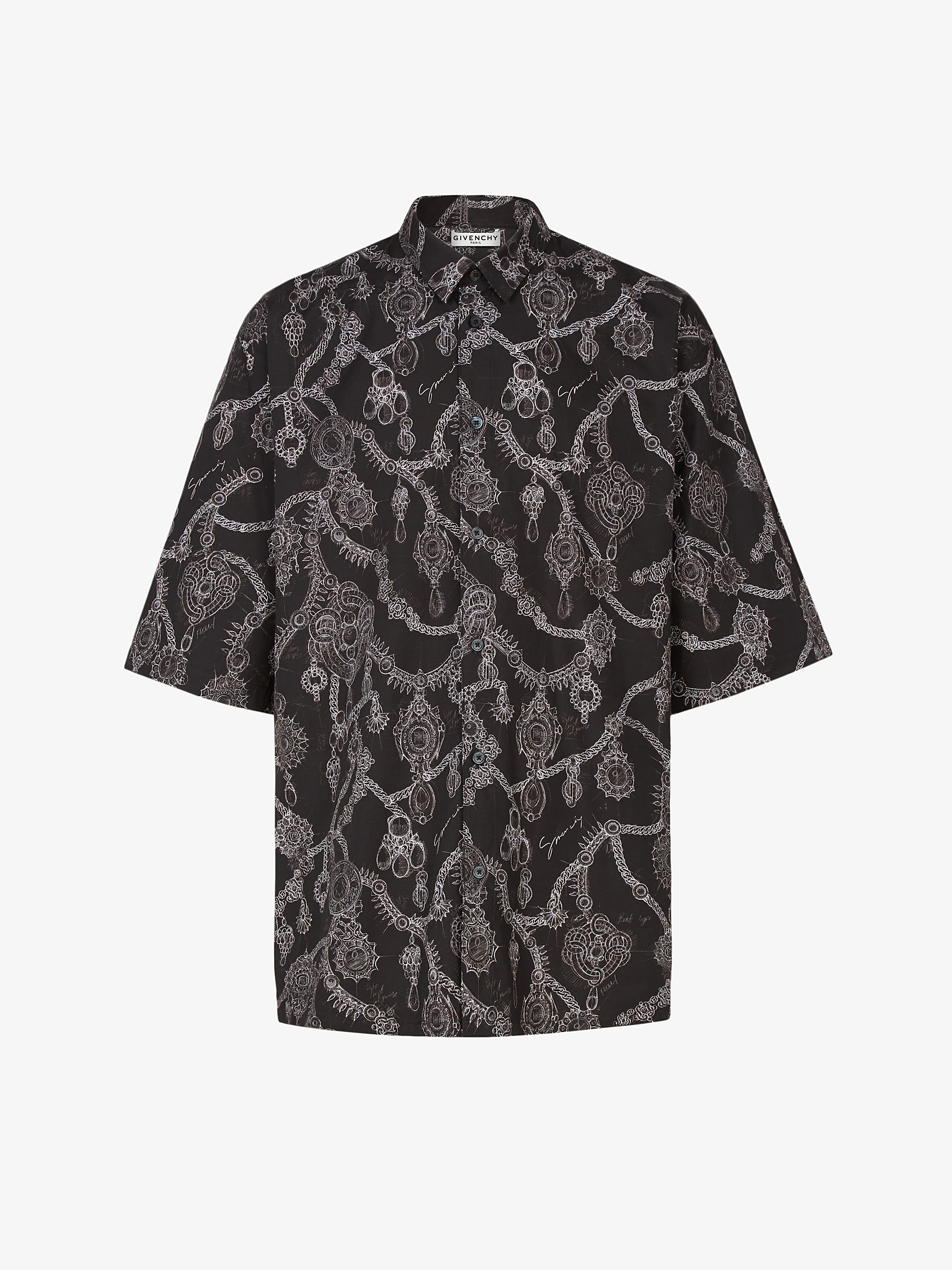 Studio Homme 주얼리 프린트 셔츠