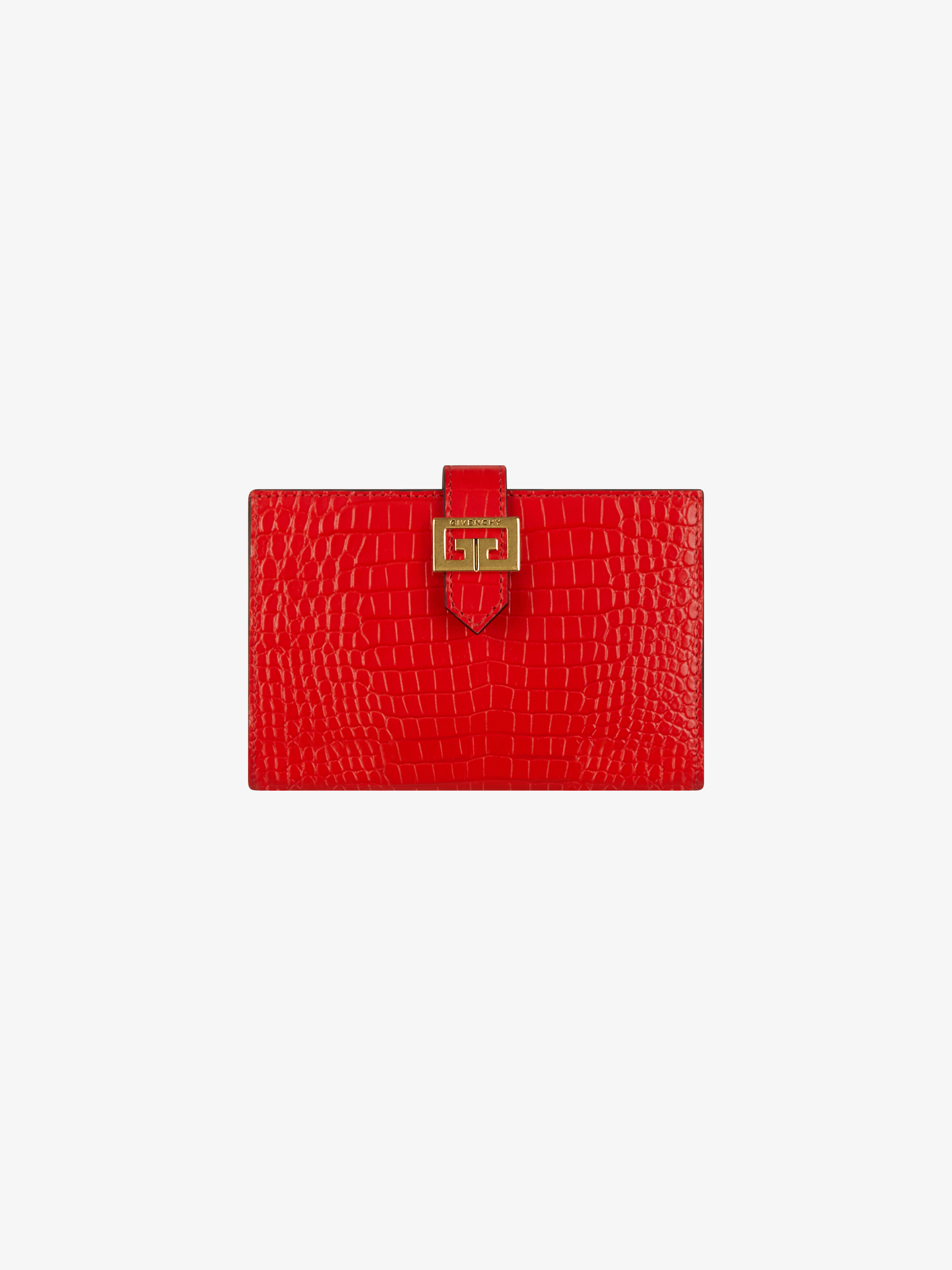GV3  wallet in crocodile effect leather