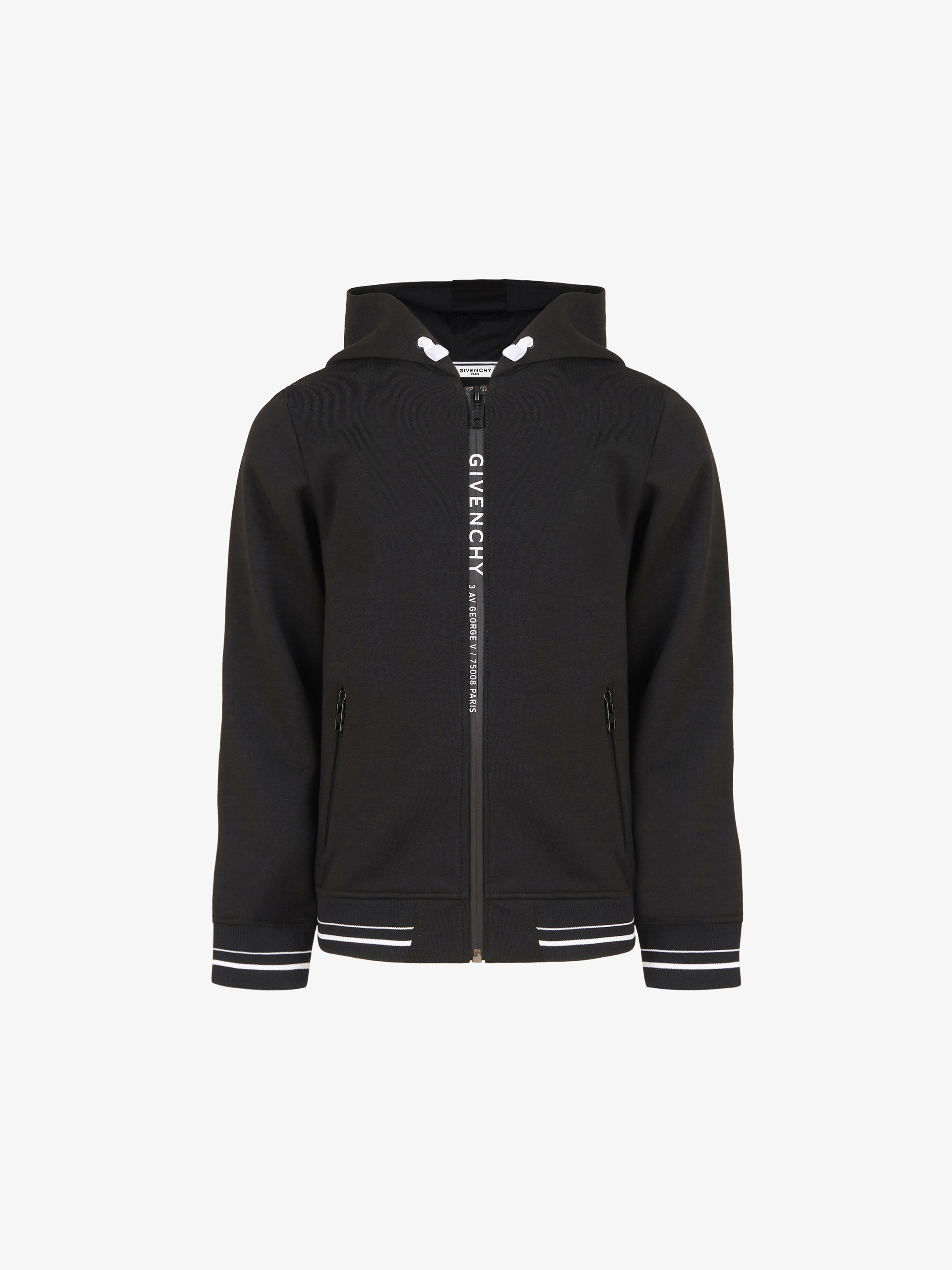 GIVENCHY contrasted zipped hoodie