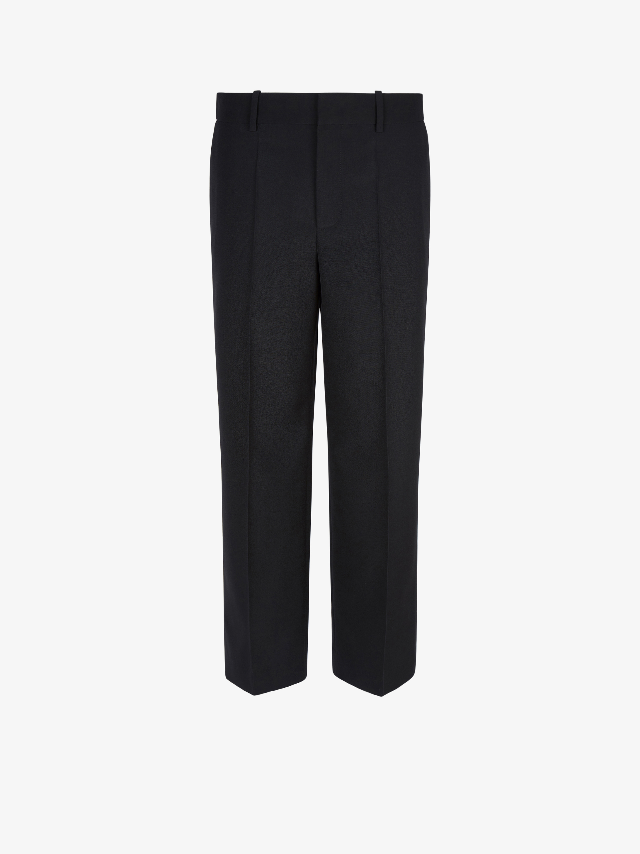 Short masculine trousers in wool
