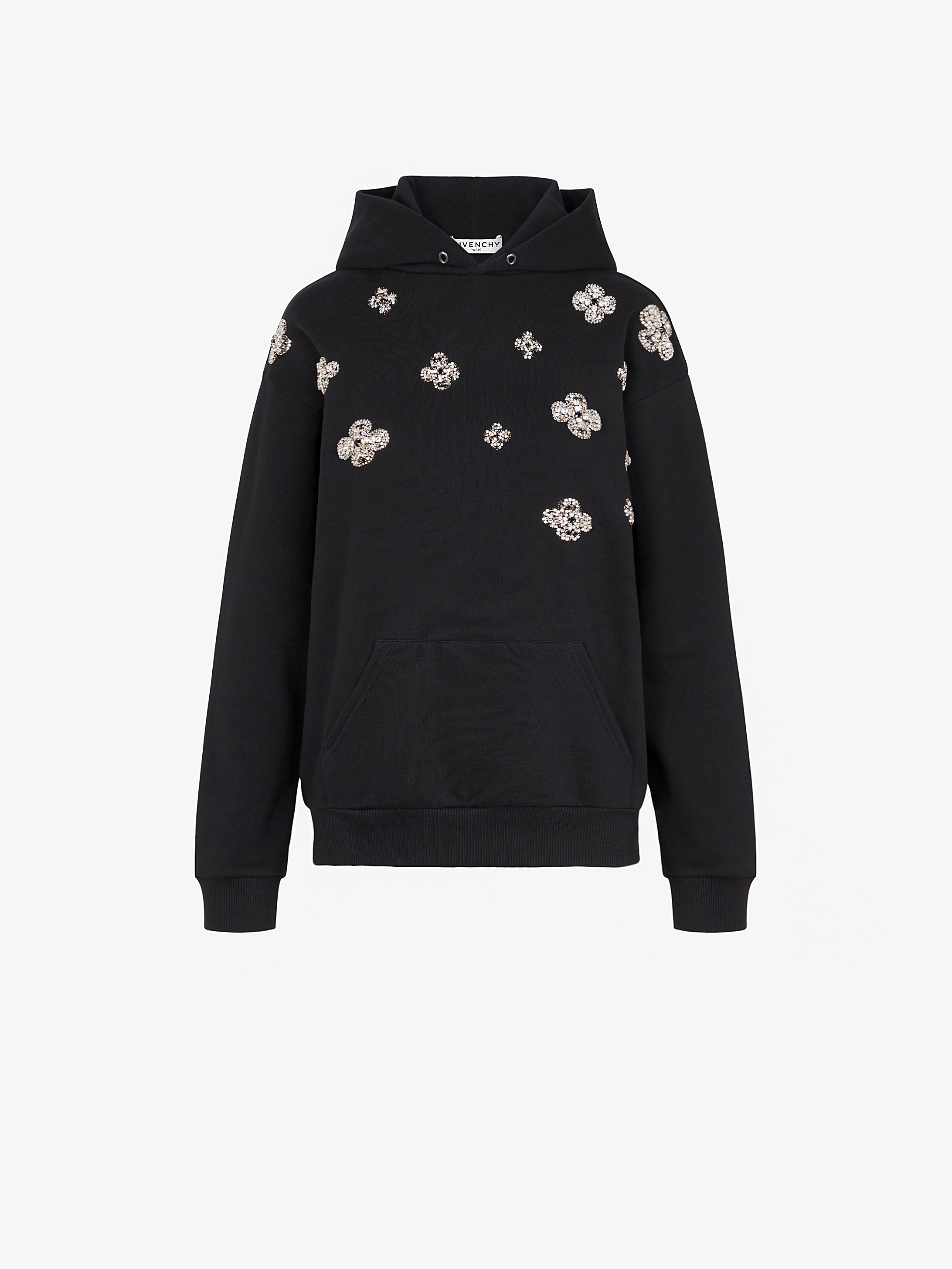 GIVENCHY flowers embroidered hoodie
