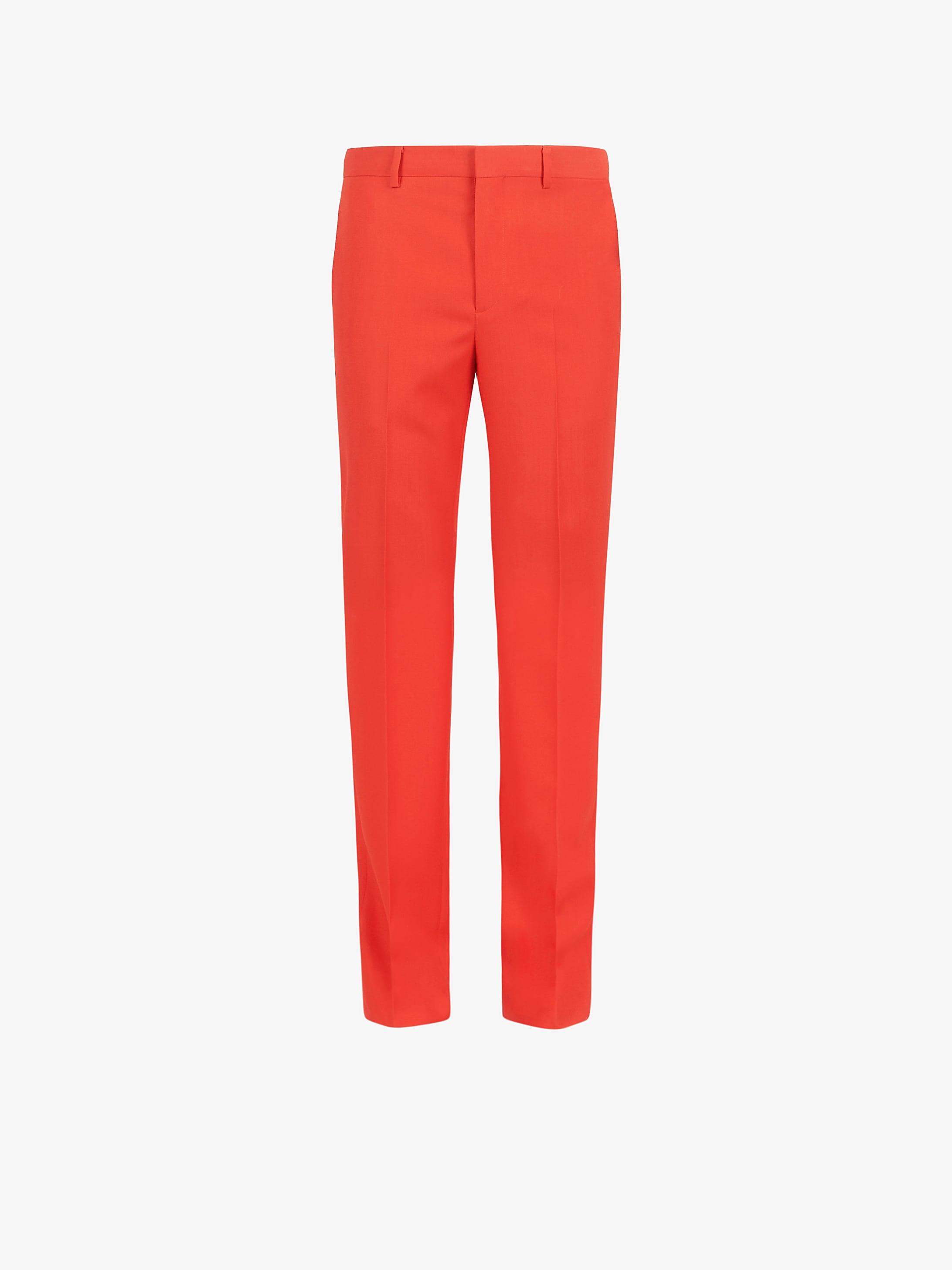 Slim fit formal pants in wool twill