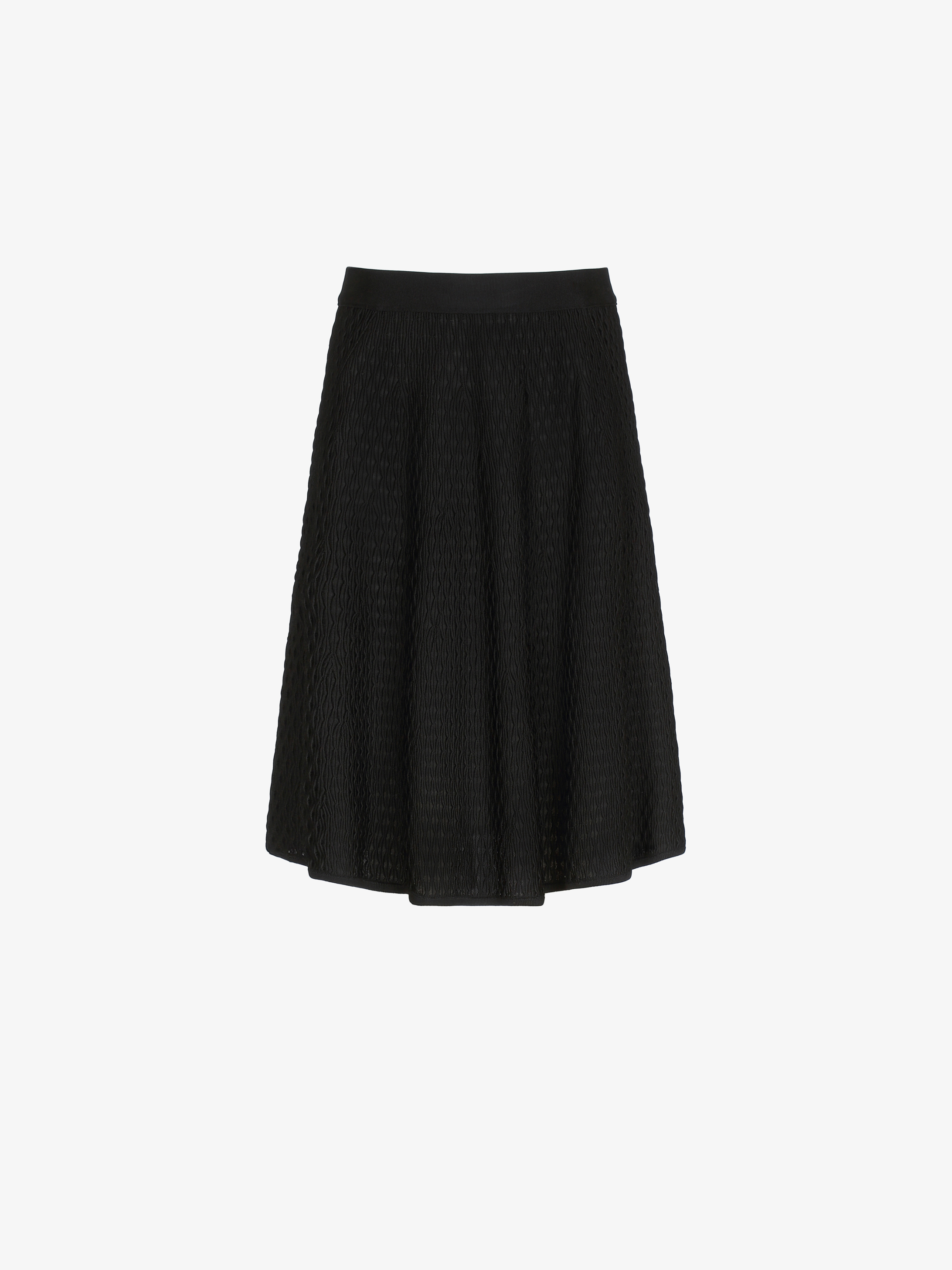 Smocks effect A-line skirt in viscose