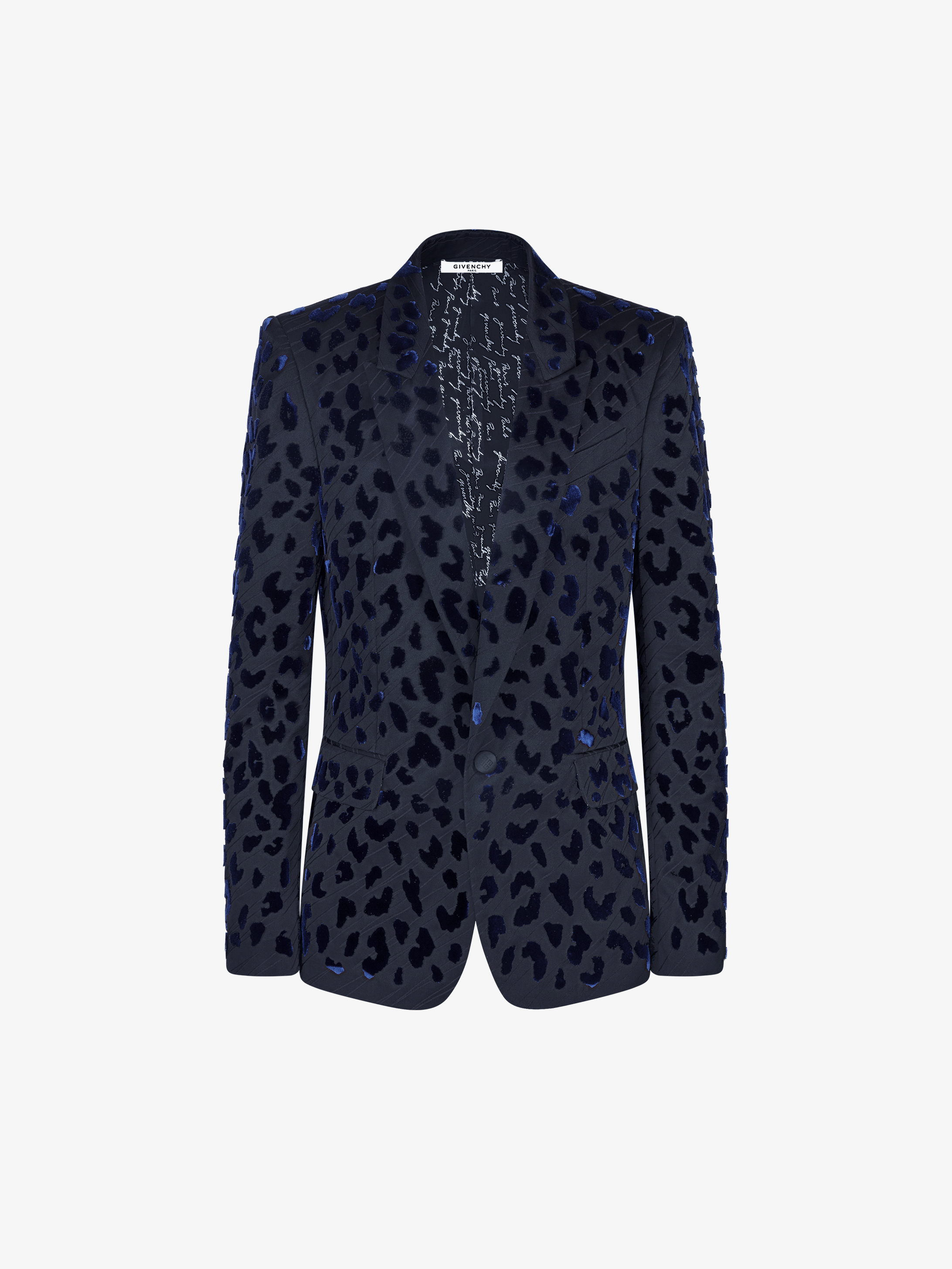 Tufting leopard jacquard jacket