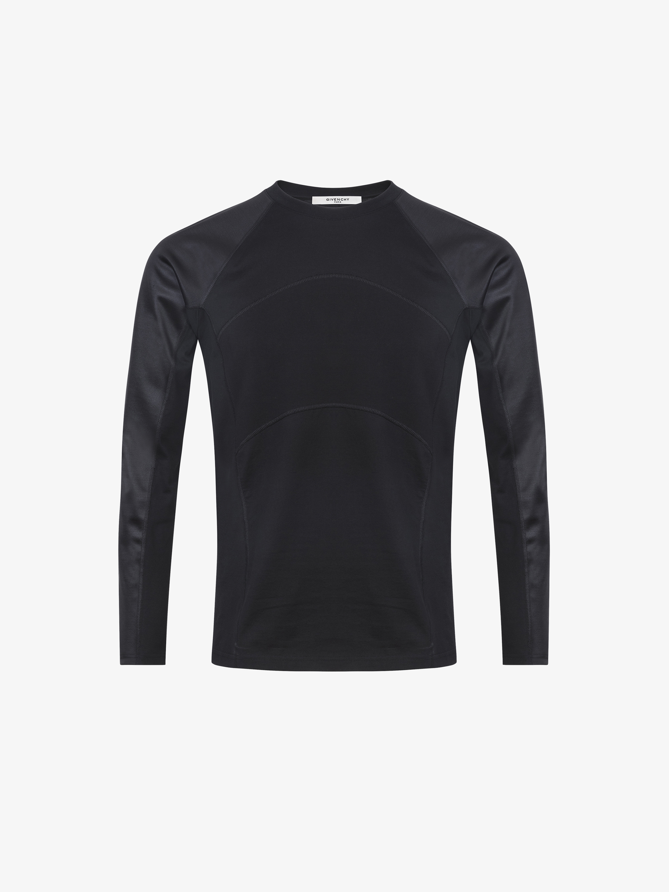 Contrasting details long sleeves t-shirt