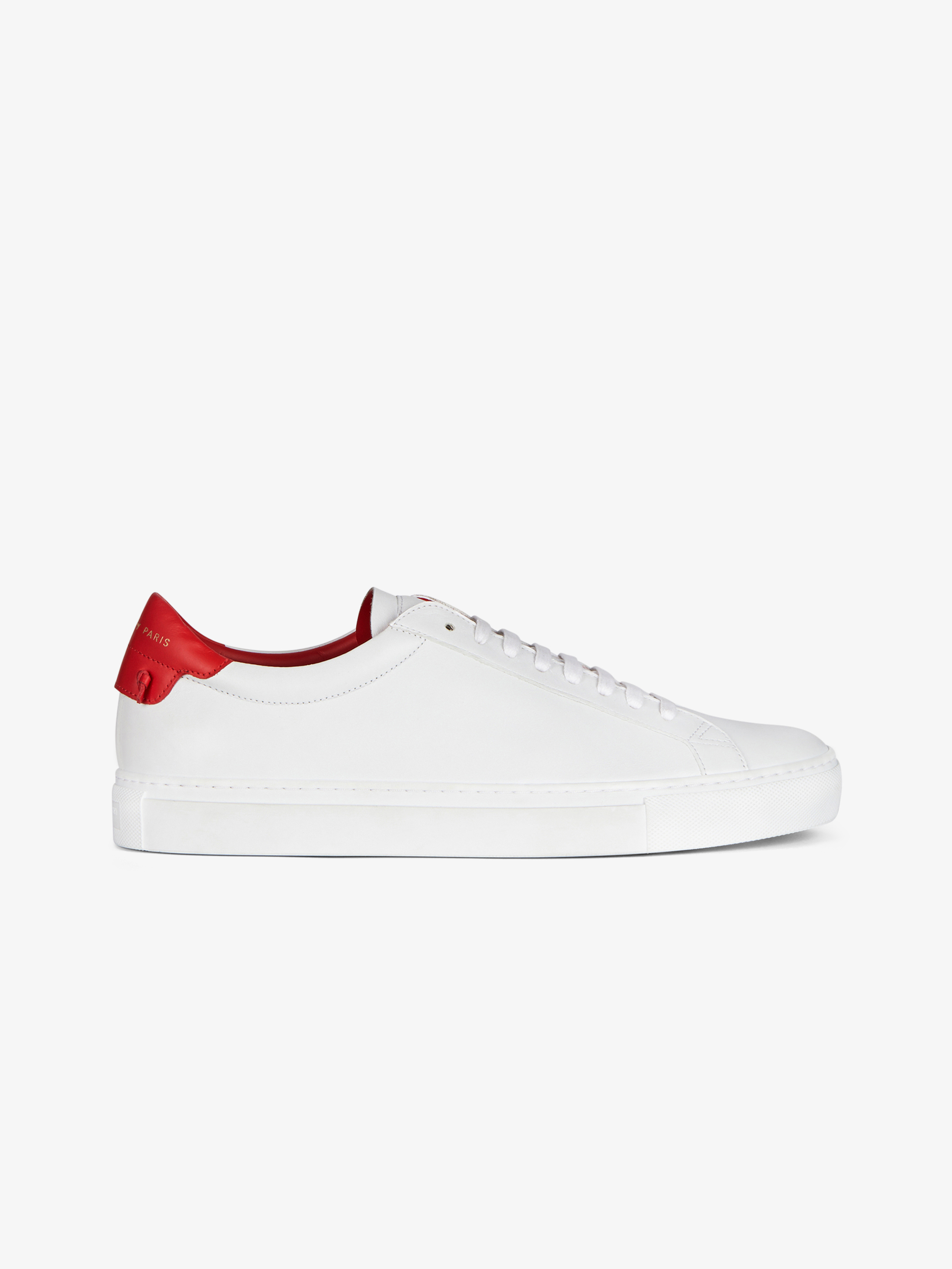 Sneakers in two tone matte leather