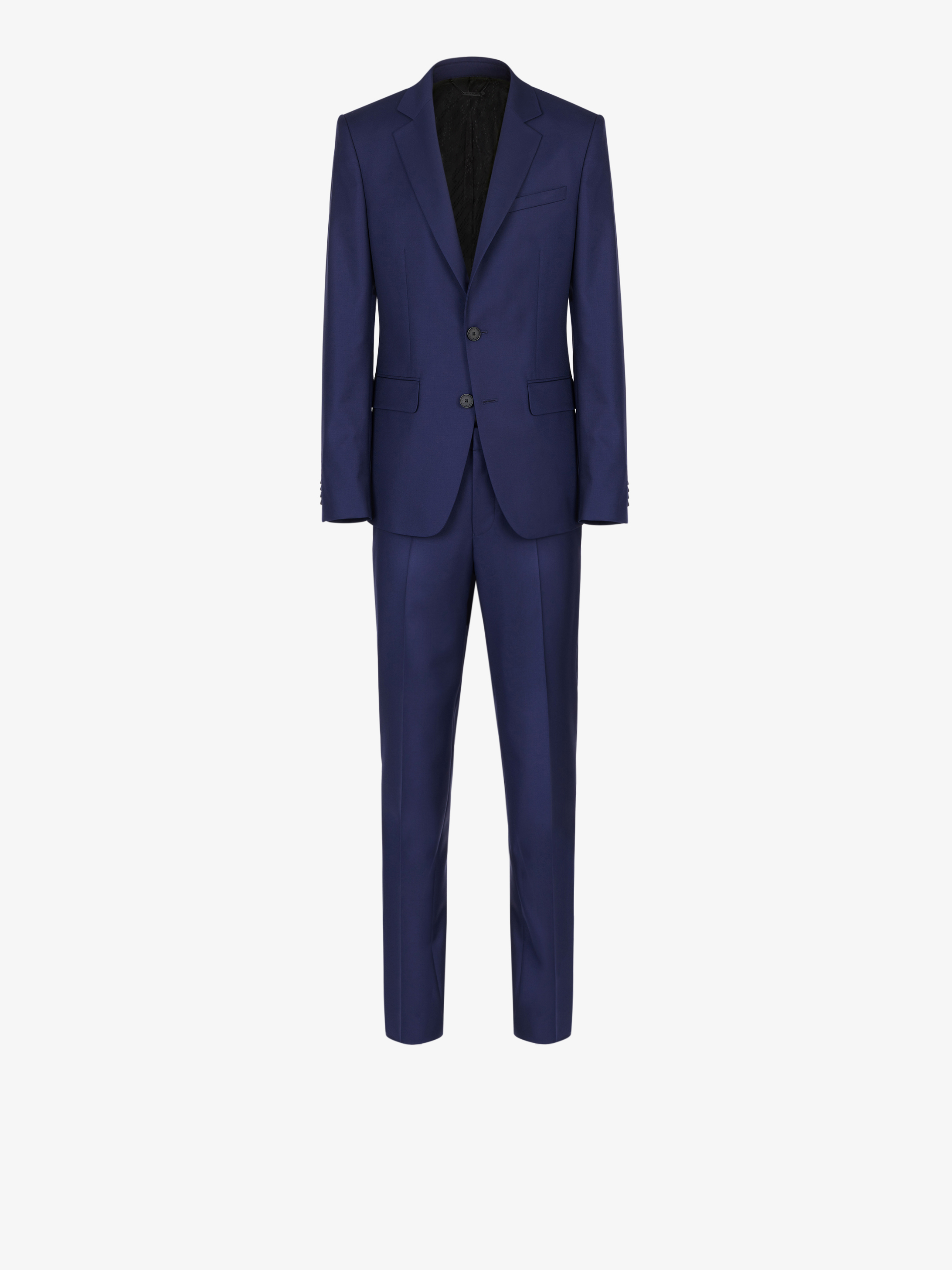 Slim fit suit in lightweight wool