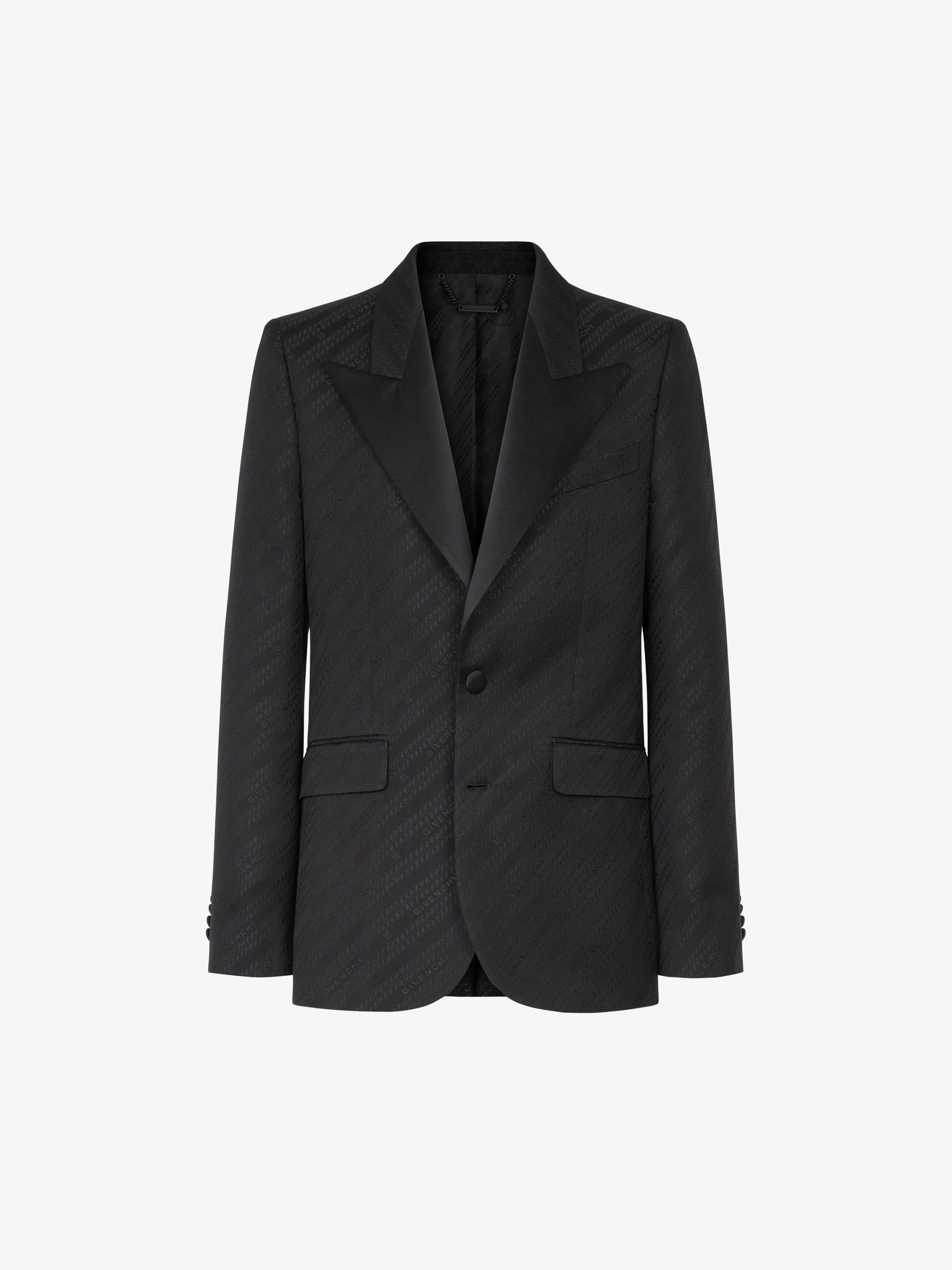 GIVENCHY Chain jacquard jacket with satin collar