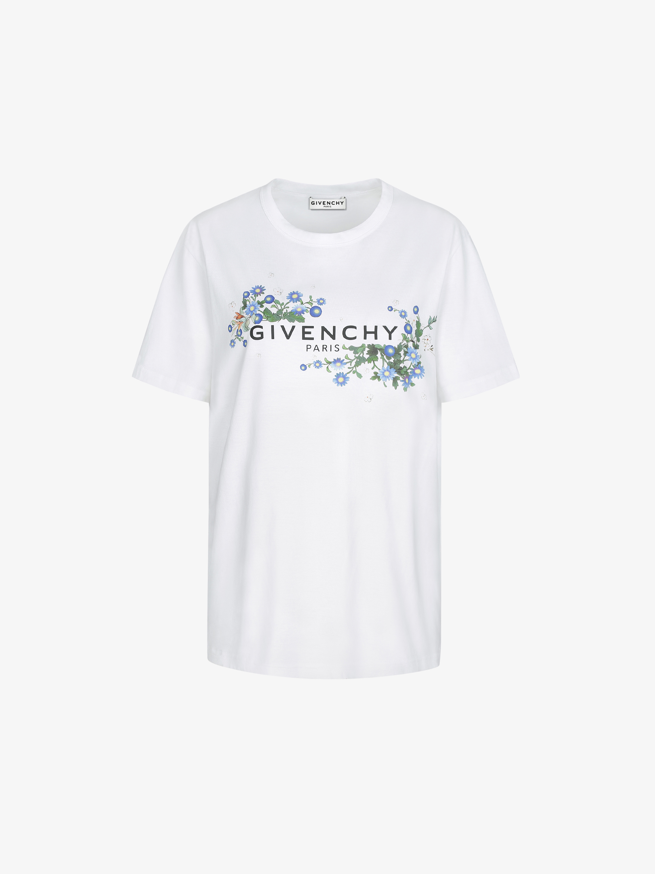 GIVENCHY PARIS floral printed oversized t-shirt