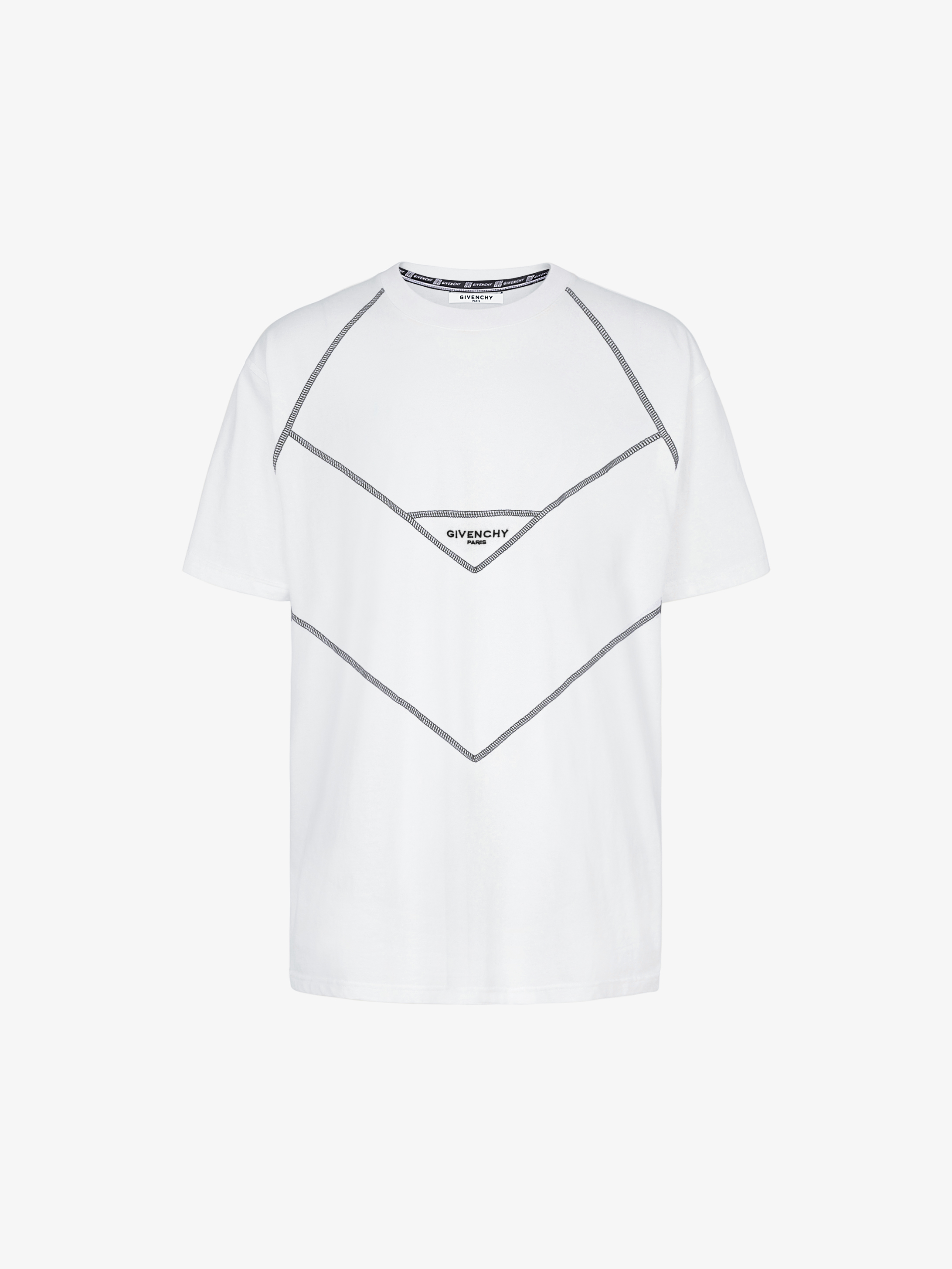 GIVENCHY PARIS contrasting stitching T-shirt
