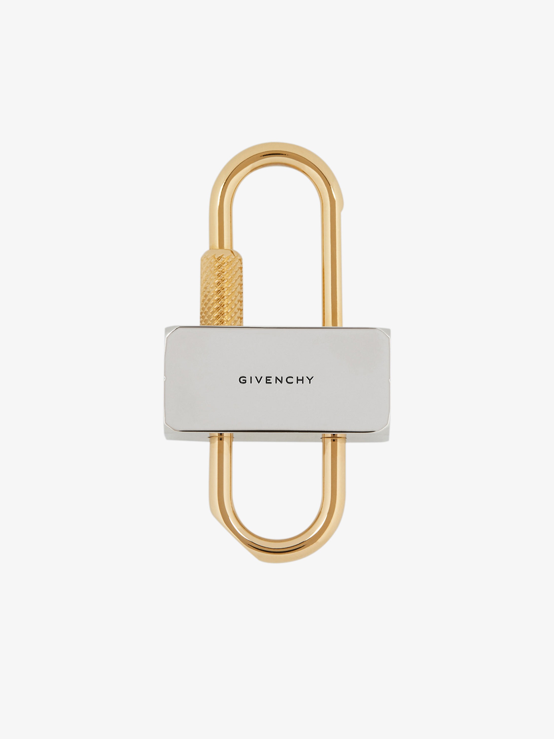 Small 4G padlock in two tone metal