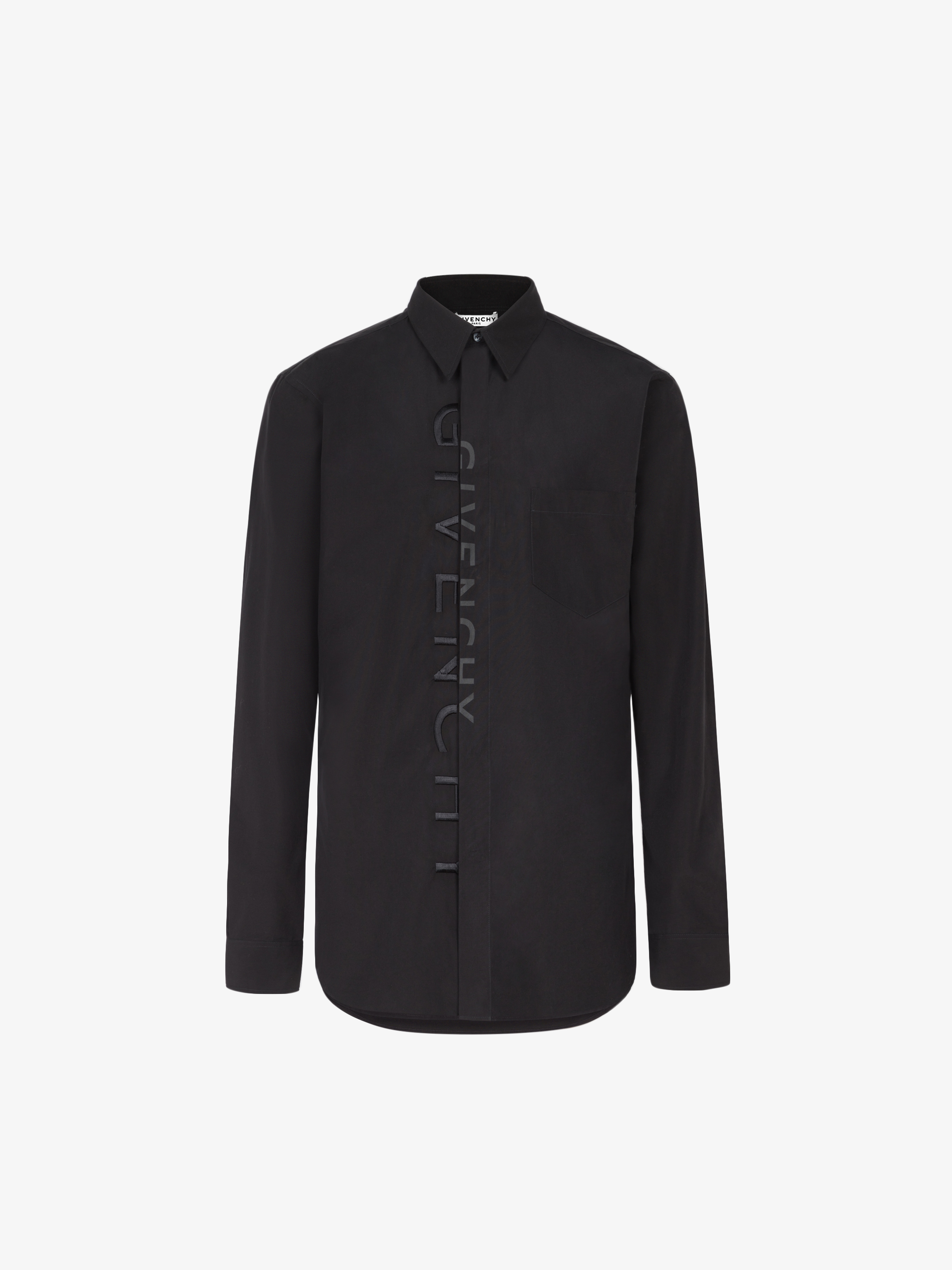 GIVENCHY Split embroidered shirt in cotton
