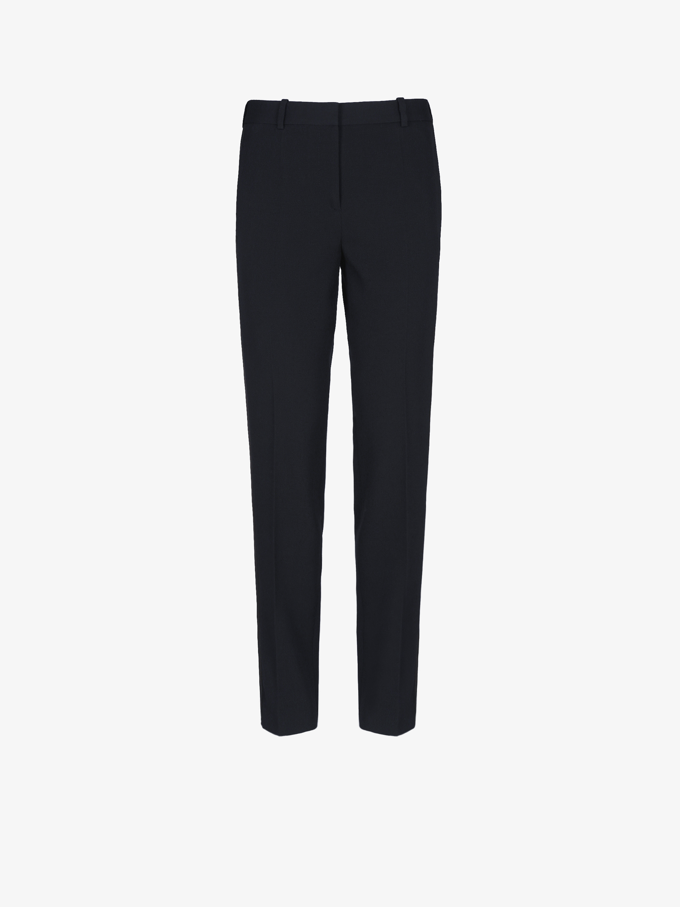Tuxedo cigarette pants with satin band