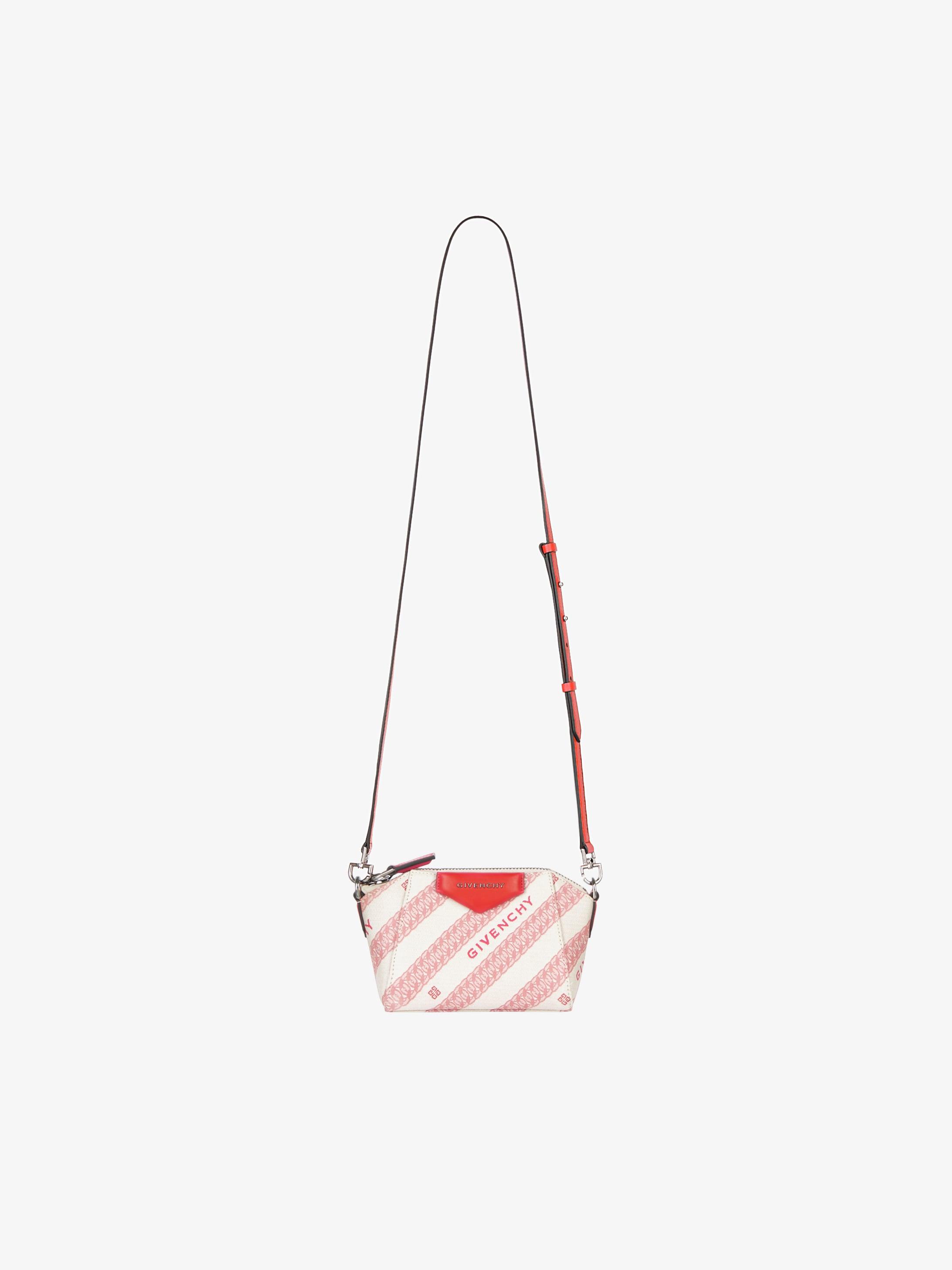 GIVENCHY Chain nano Antigona bag in jacquard