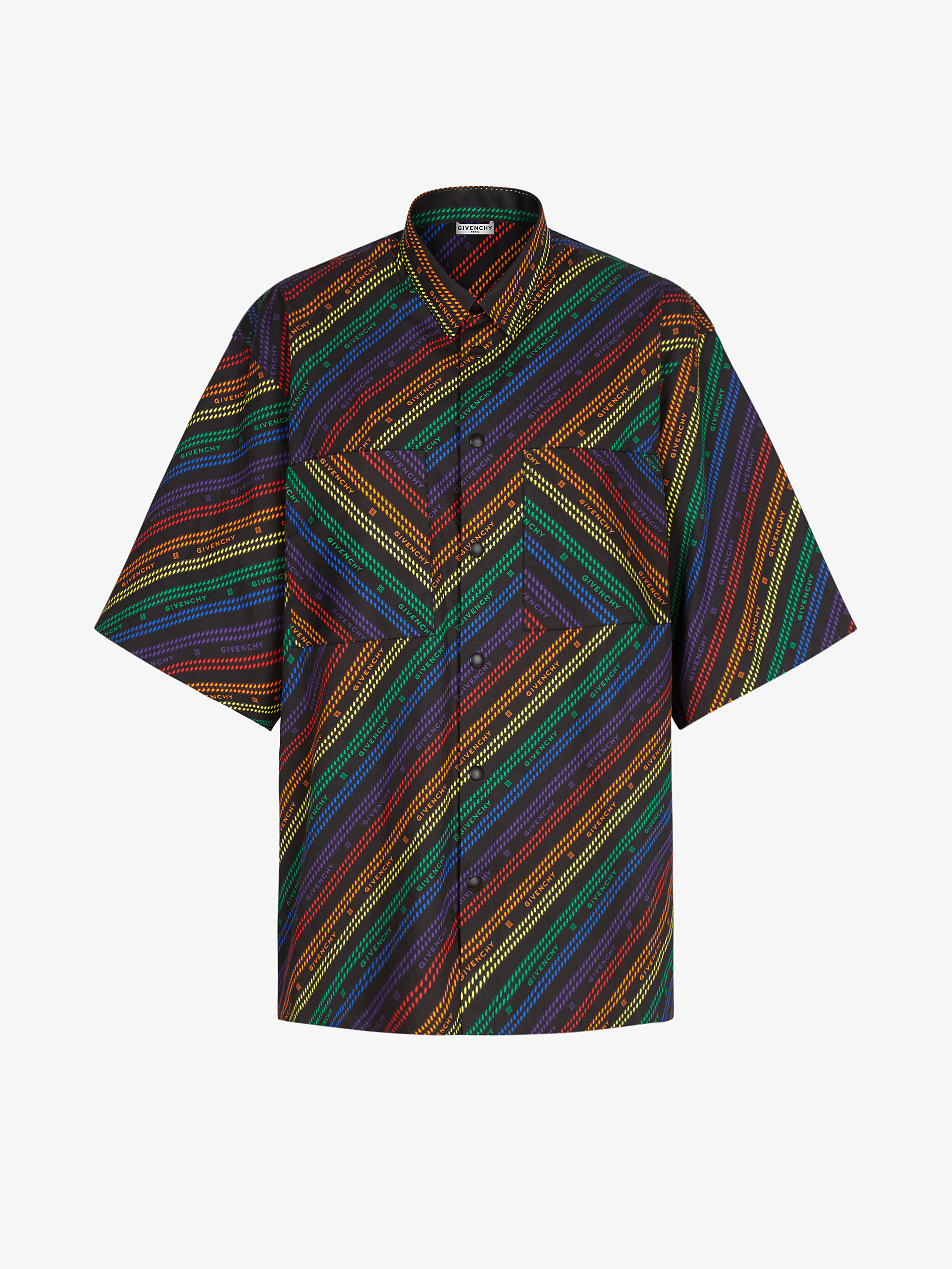 GIVENCHY multicolored Chain printed oversized shirt