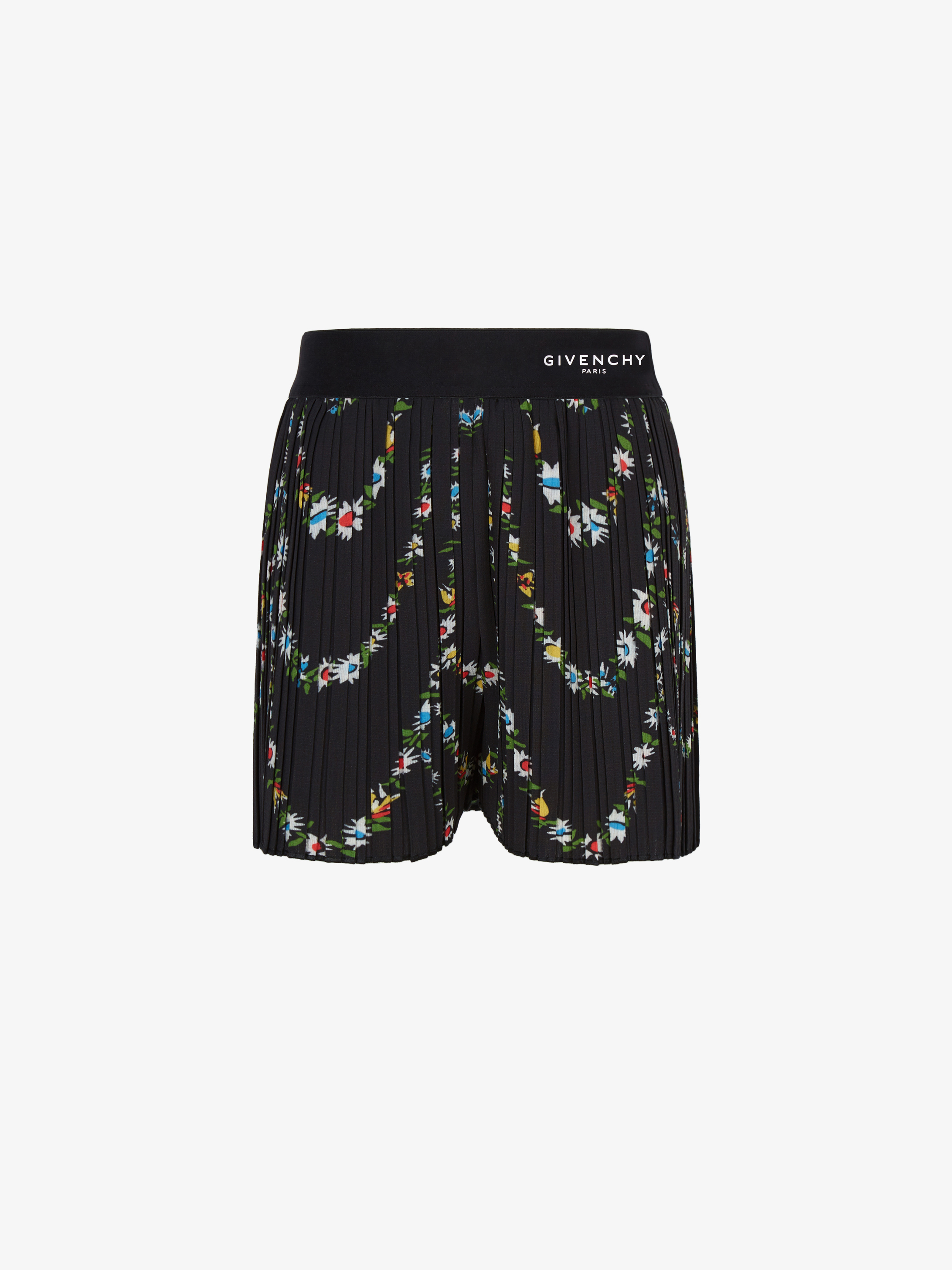 GIVENCHY floral printed pleated skirt in crepe