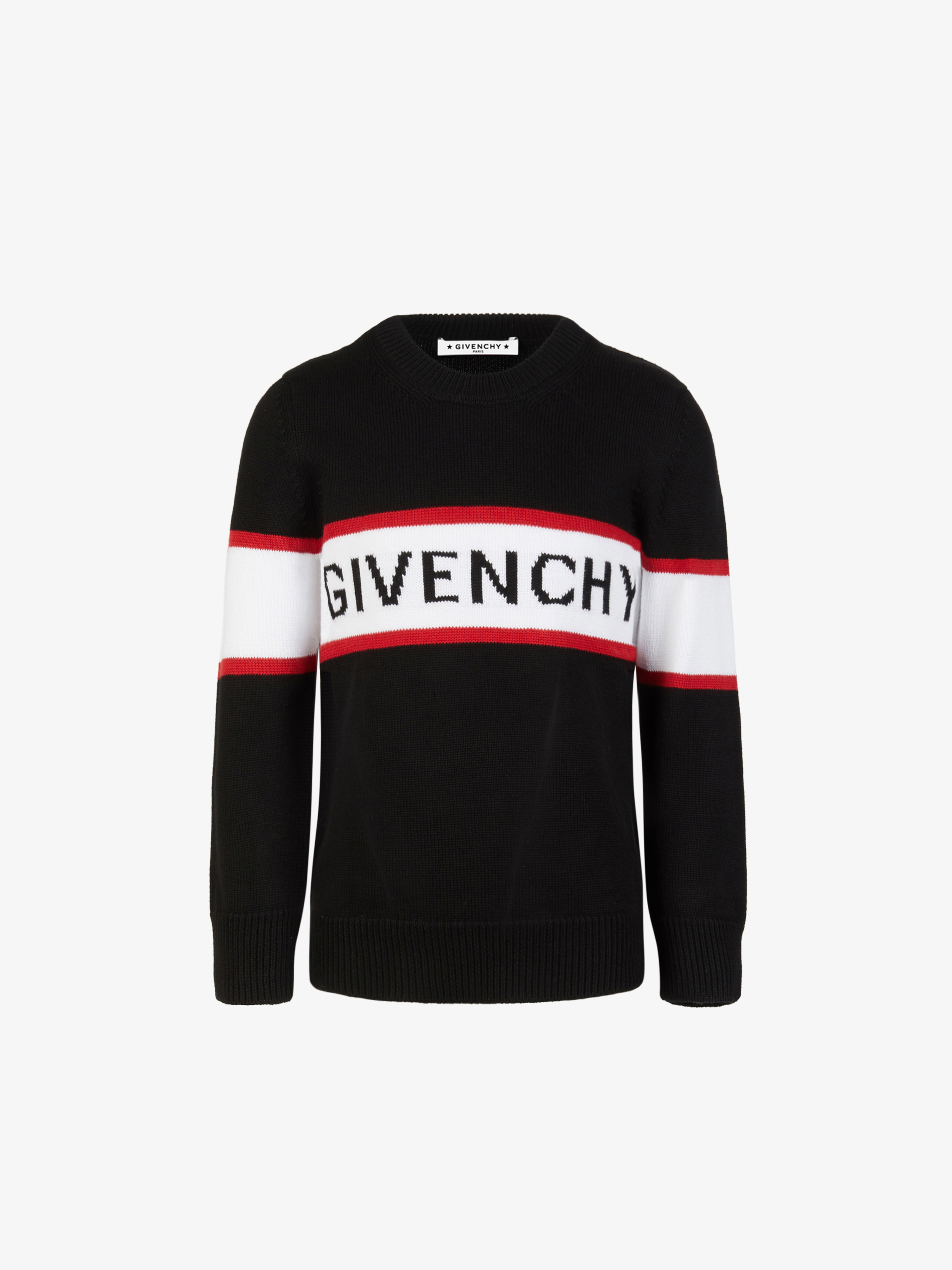 GIVENCHY band three-colored sweater