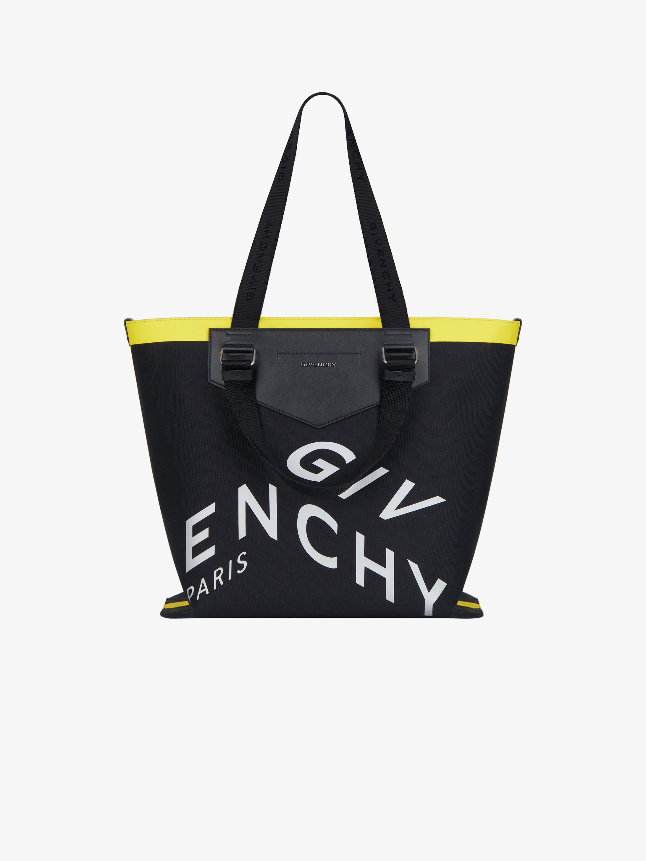 Antigona Soft shopping bag in canvas with contrasted band