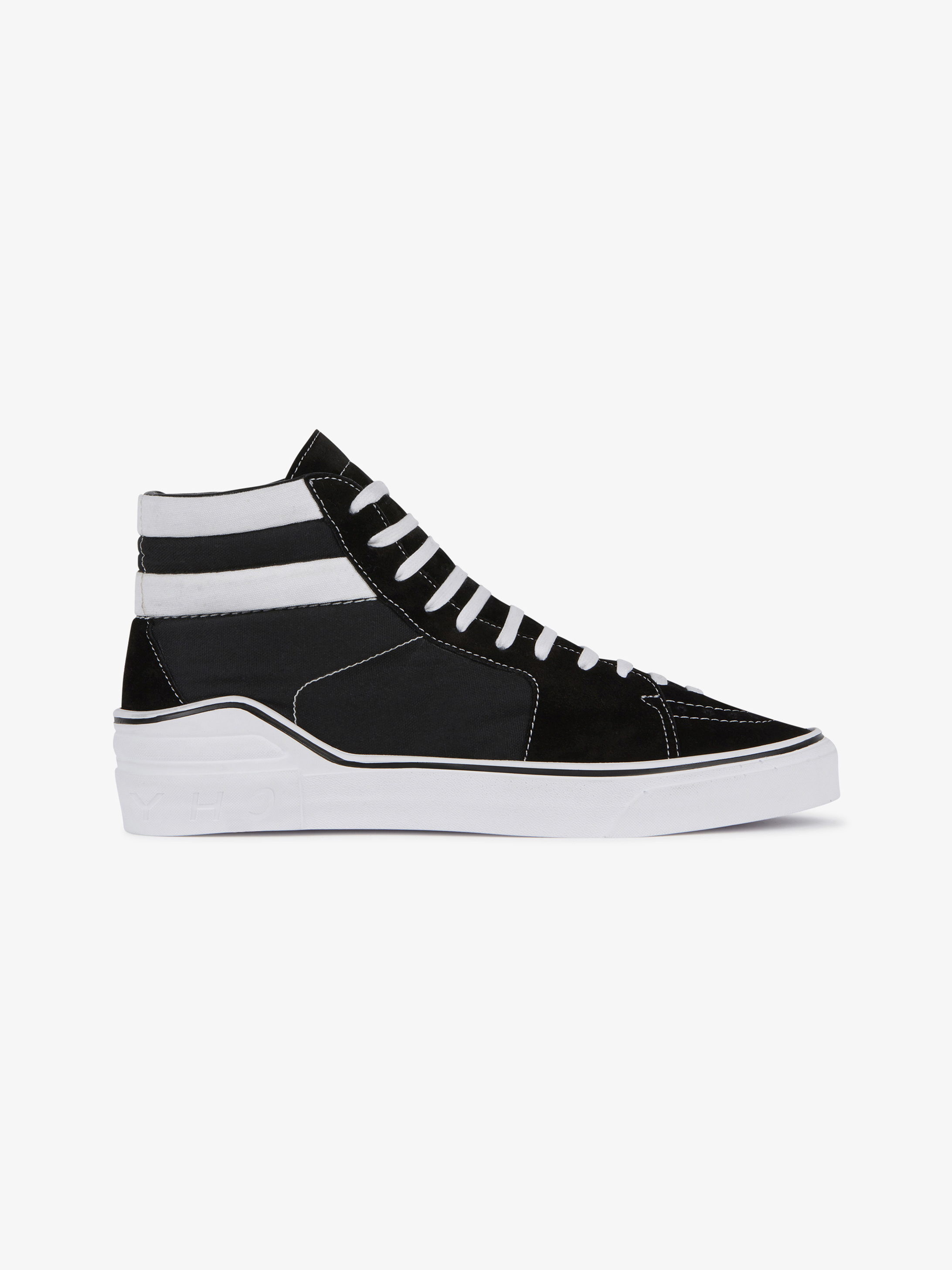 Star perforated mid sneakers