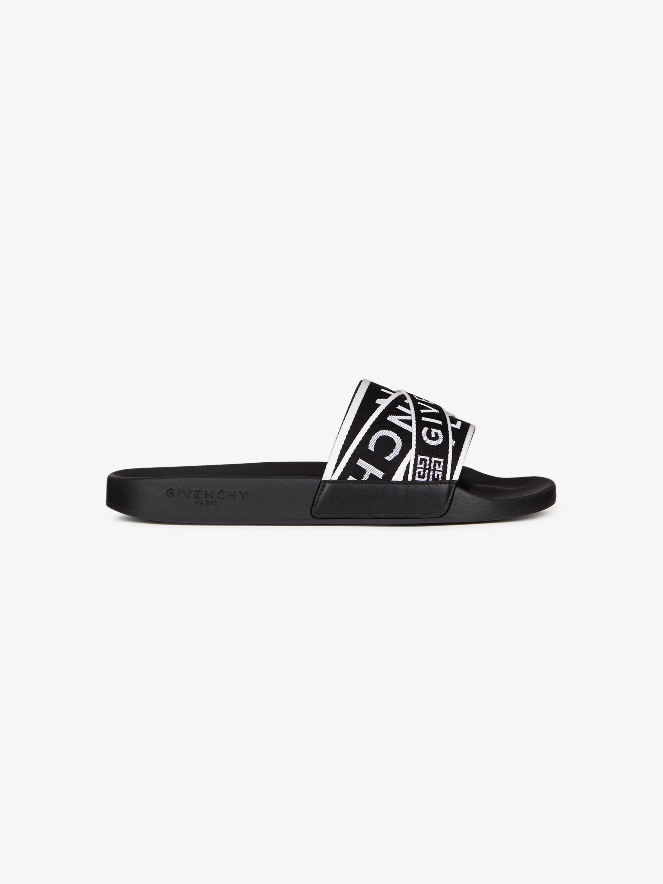 GIVENCHY 4G webbing sandals in rubber