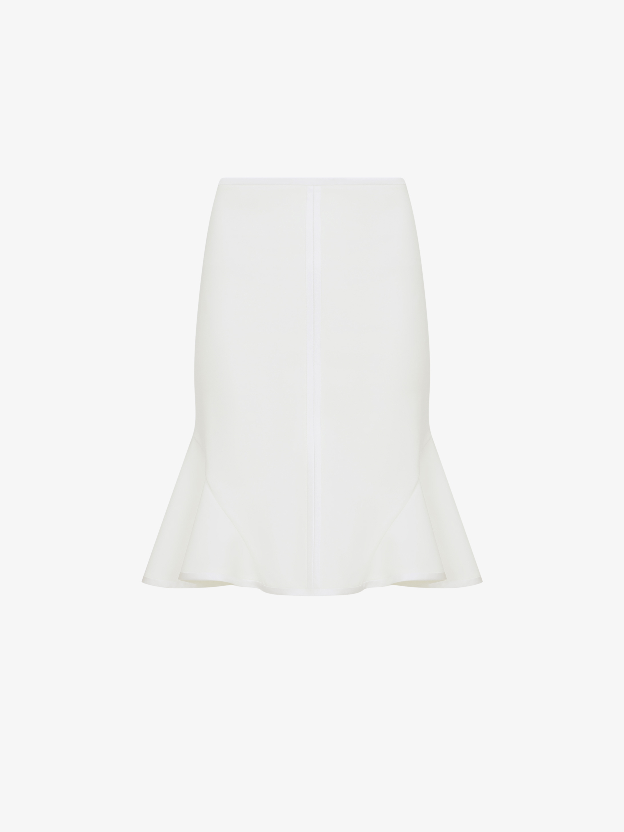 Gored short skirt