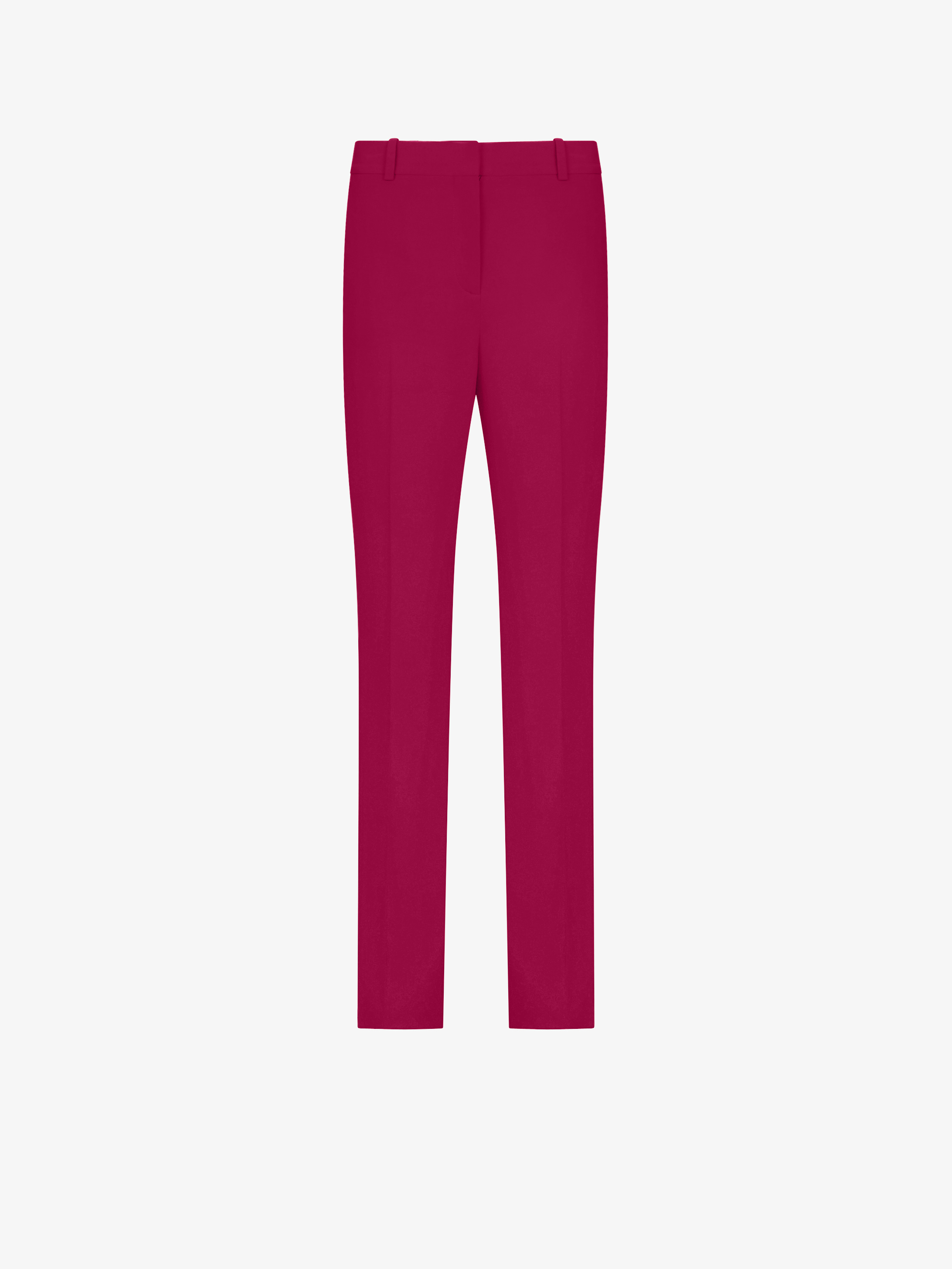 Stretch cady flared trousers