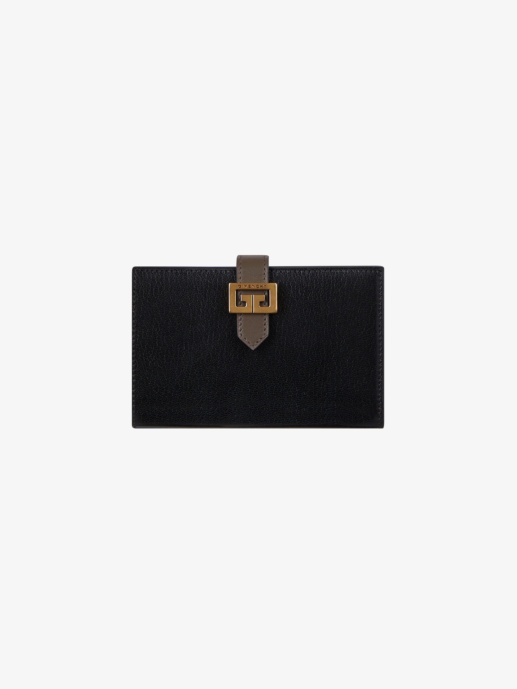 GV3 two-tone wallet in leather