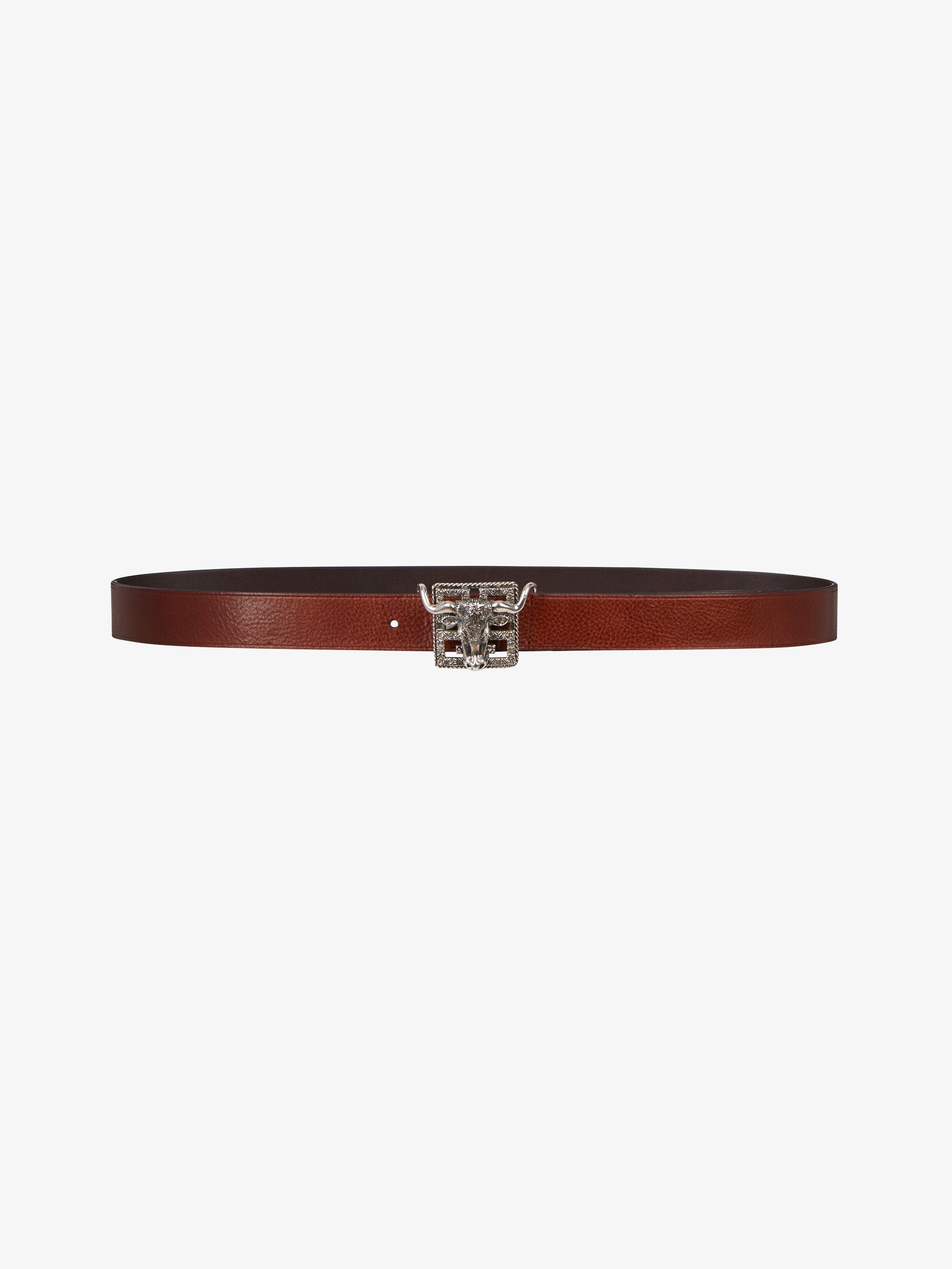 4G bull buckle belt
