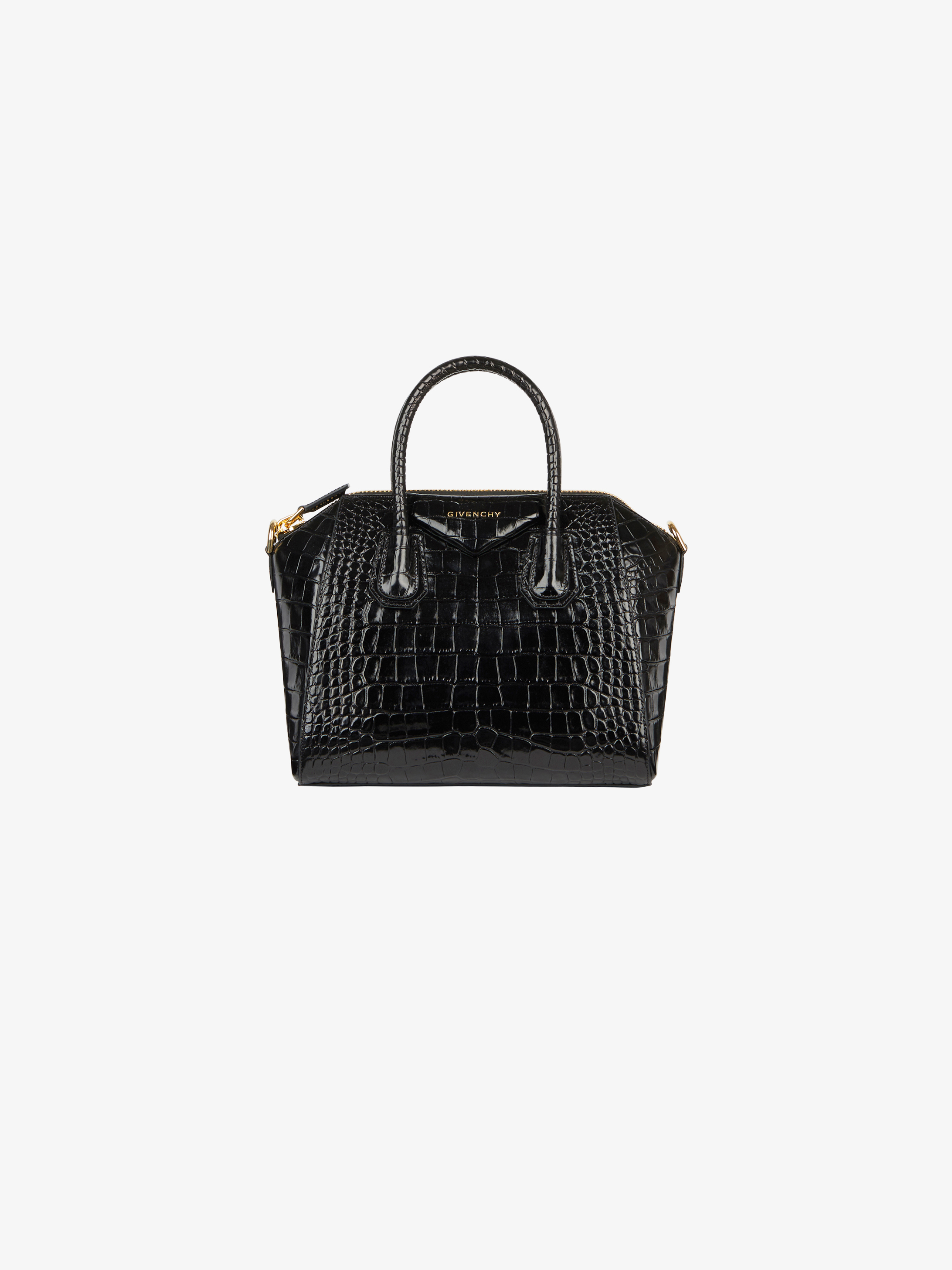 Small Antigona bag in crocodile effect leather