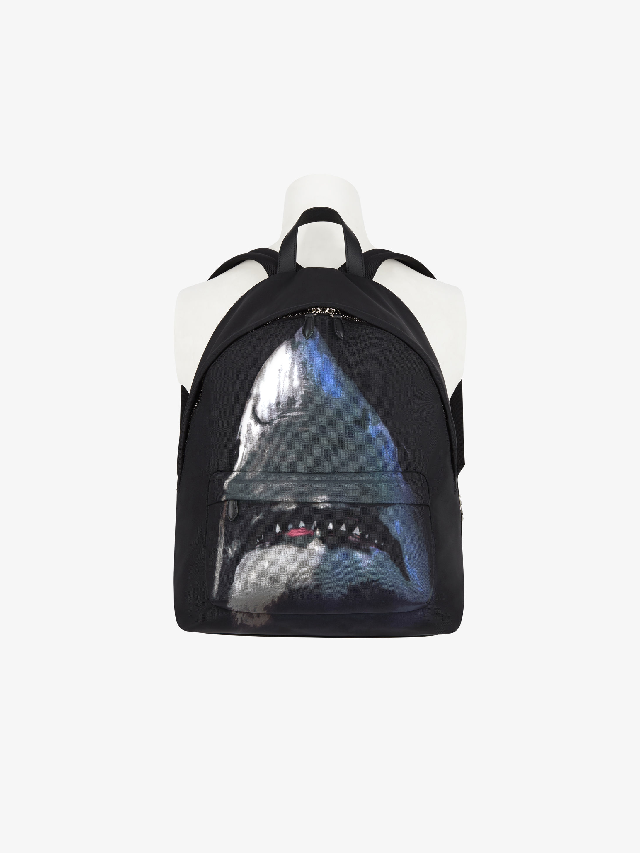 Shark printed backpack