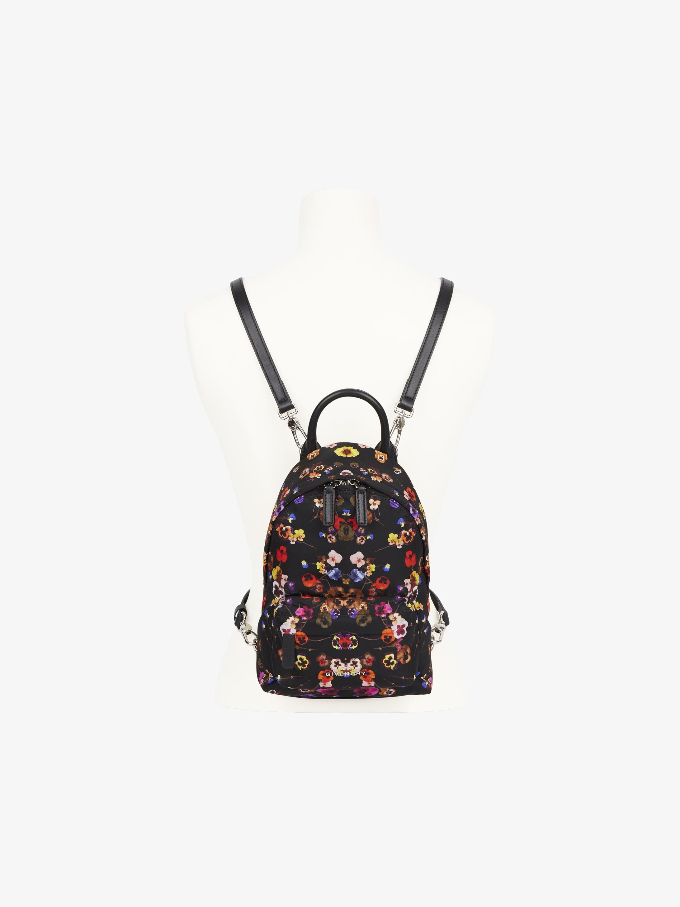 Flower printed nano backpack