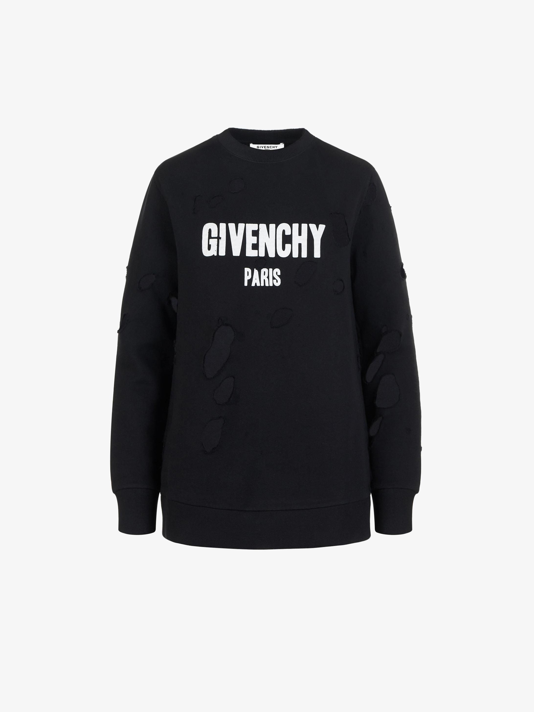 Givenchy Sweatshirt Givenchy Destroyed Paris Destroyed Paris qYUE0