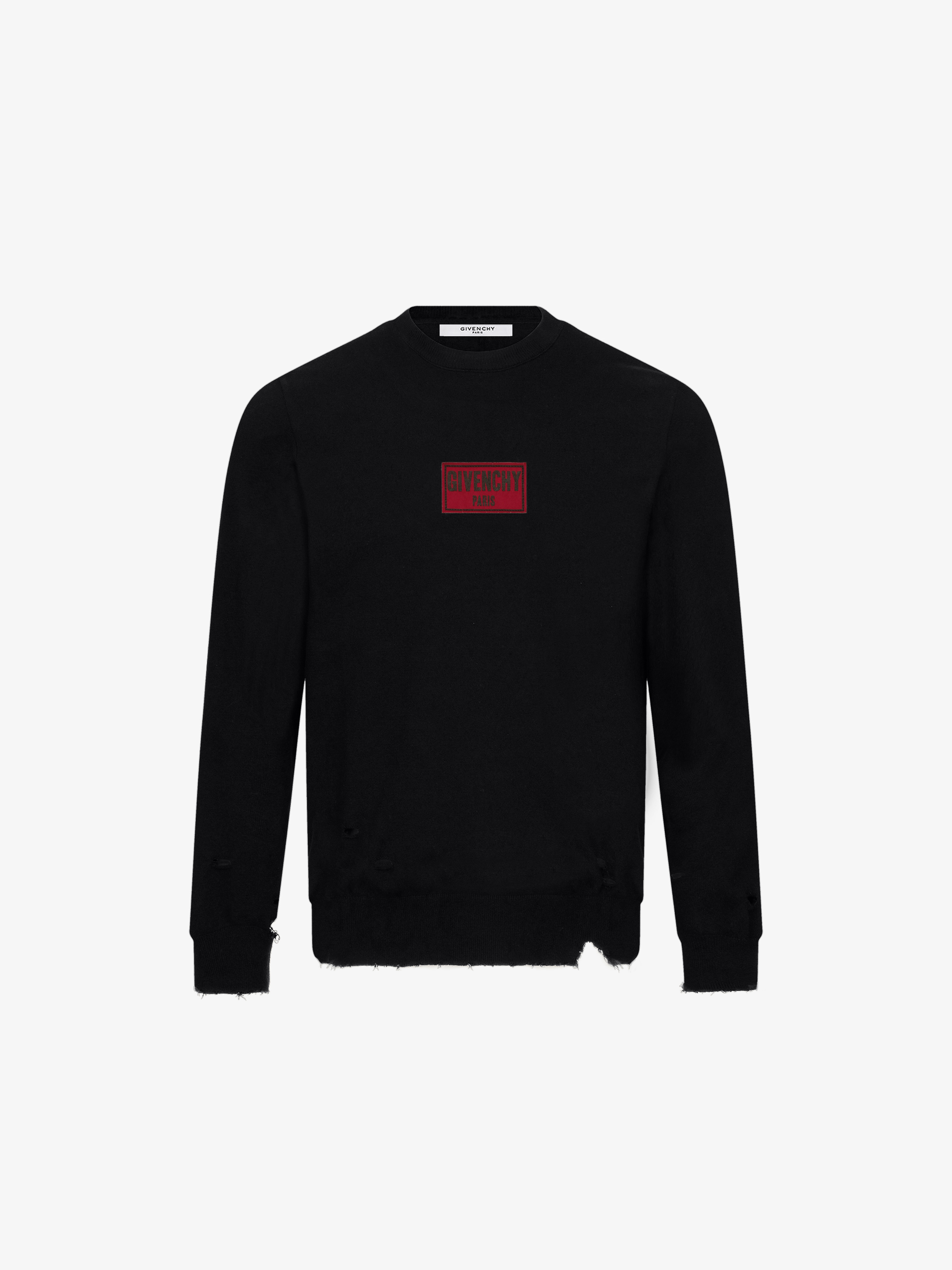 GIVENCHY PARIS patch destroyed jumper