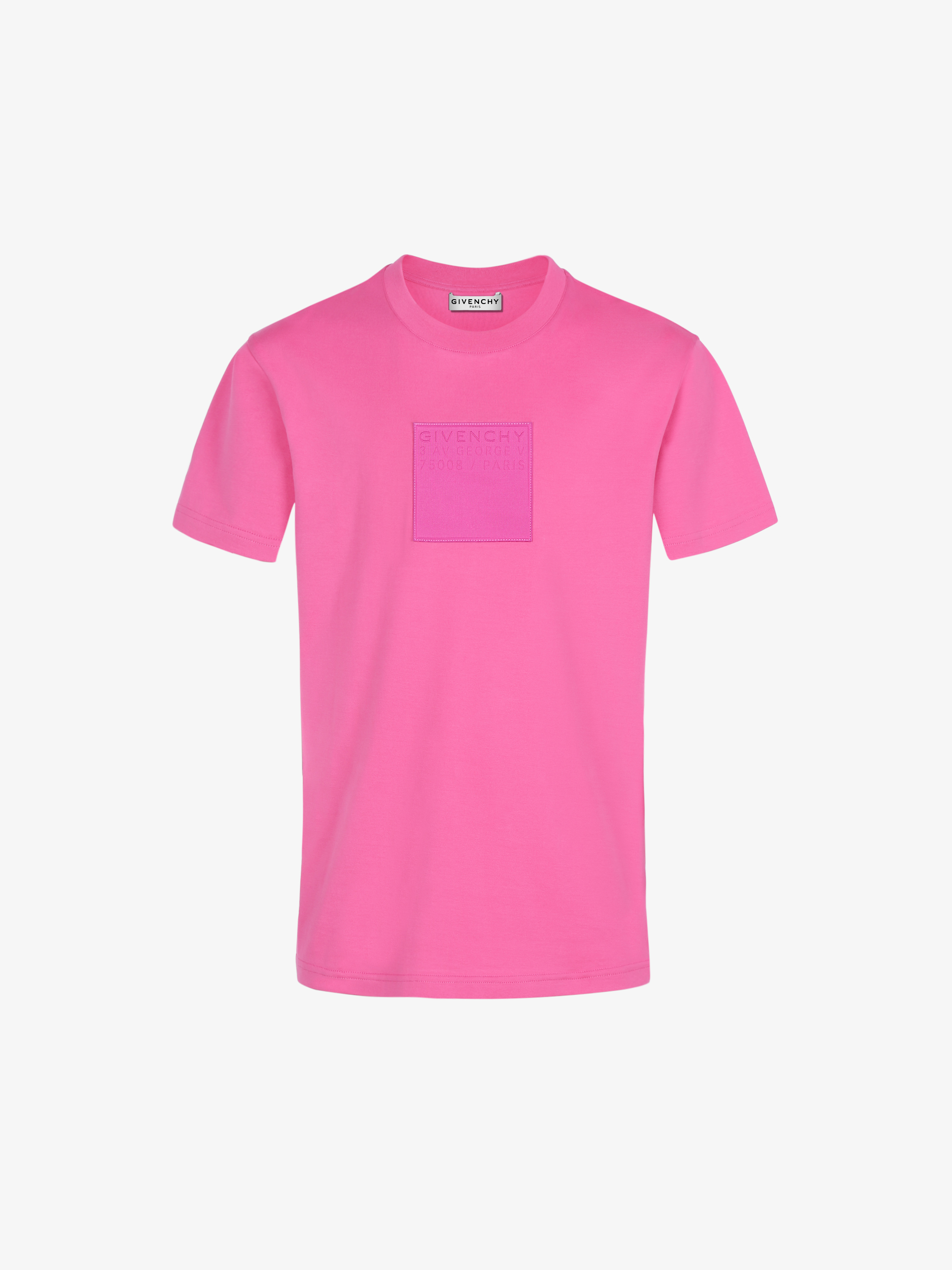 GIVENCHY ADDRESS patch slim fit t-shirt