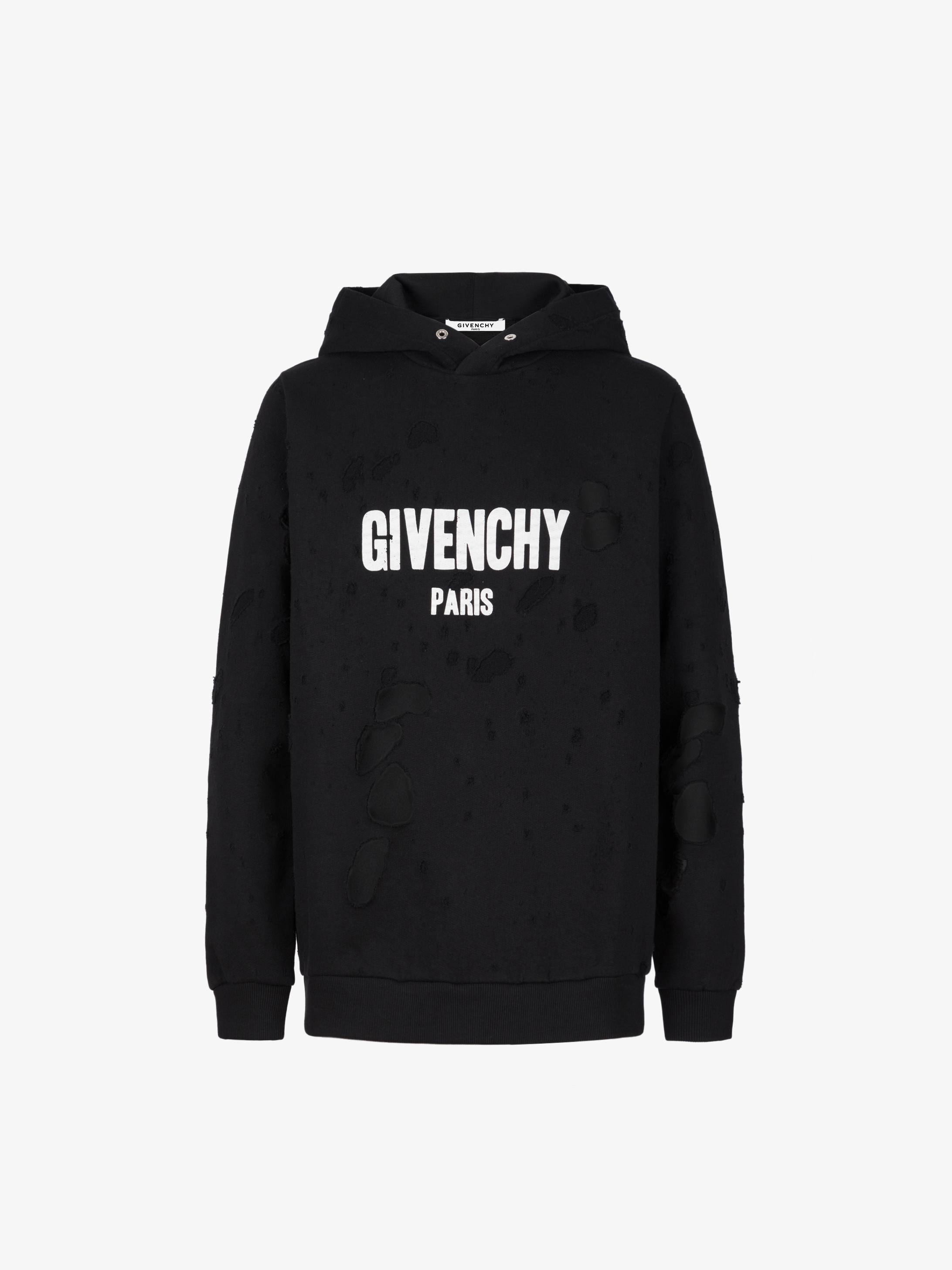Givenchy Paris Destroyed Hoodie Givenchy Paris