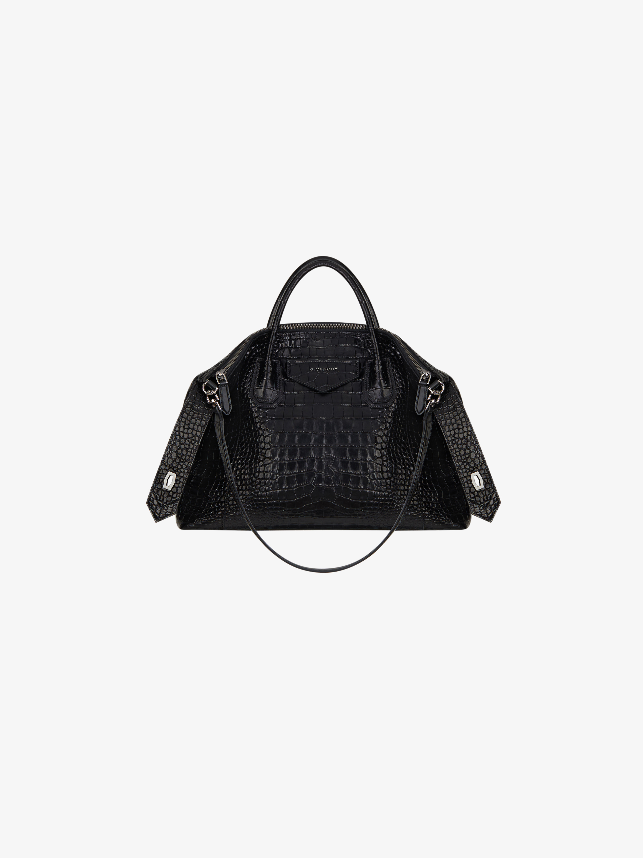 Medium Antigona Soft bag in crocodile effect leather