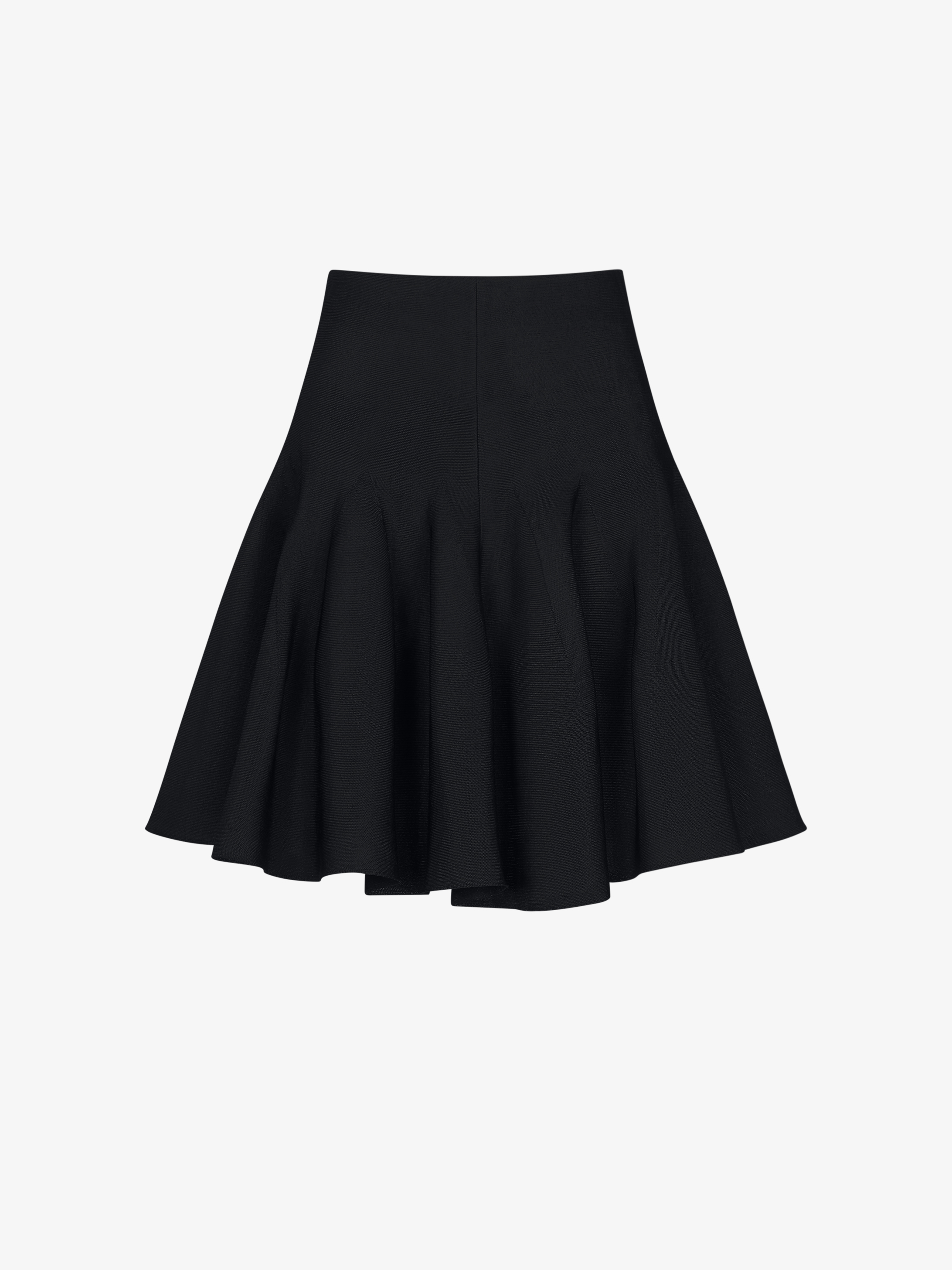 Mini skirt with tails in crêpe viscose