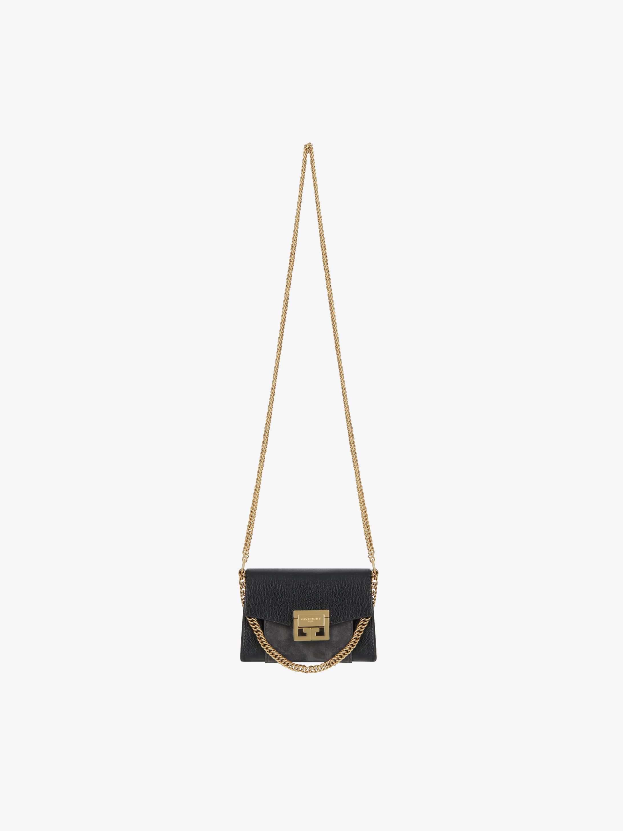 d289c61318e5 Nano GV3 bag in grained leather and suede