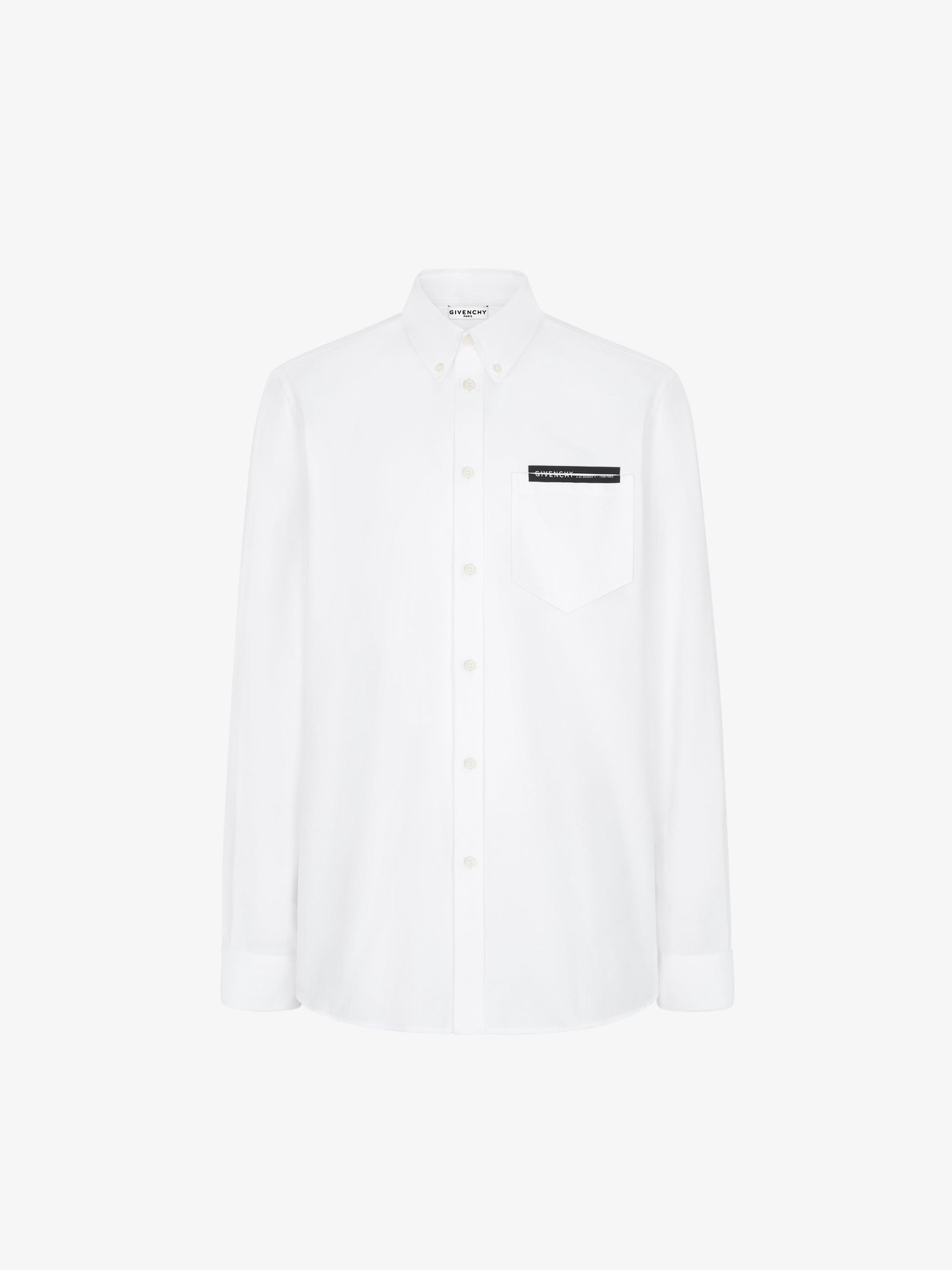 Camicia di cotone Oxford con striscia GIVENCHY