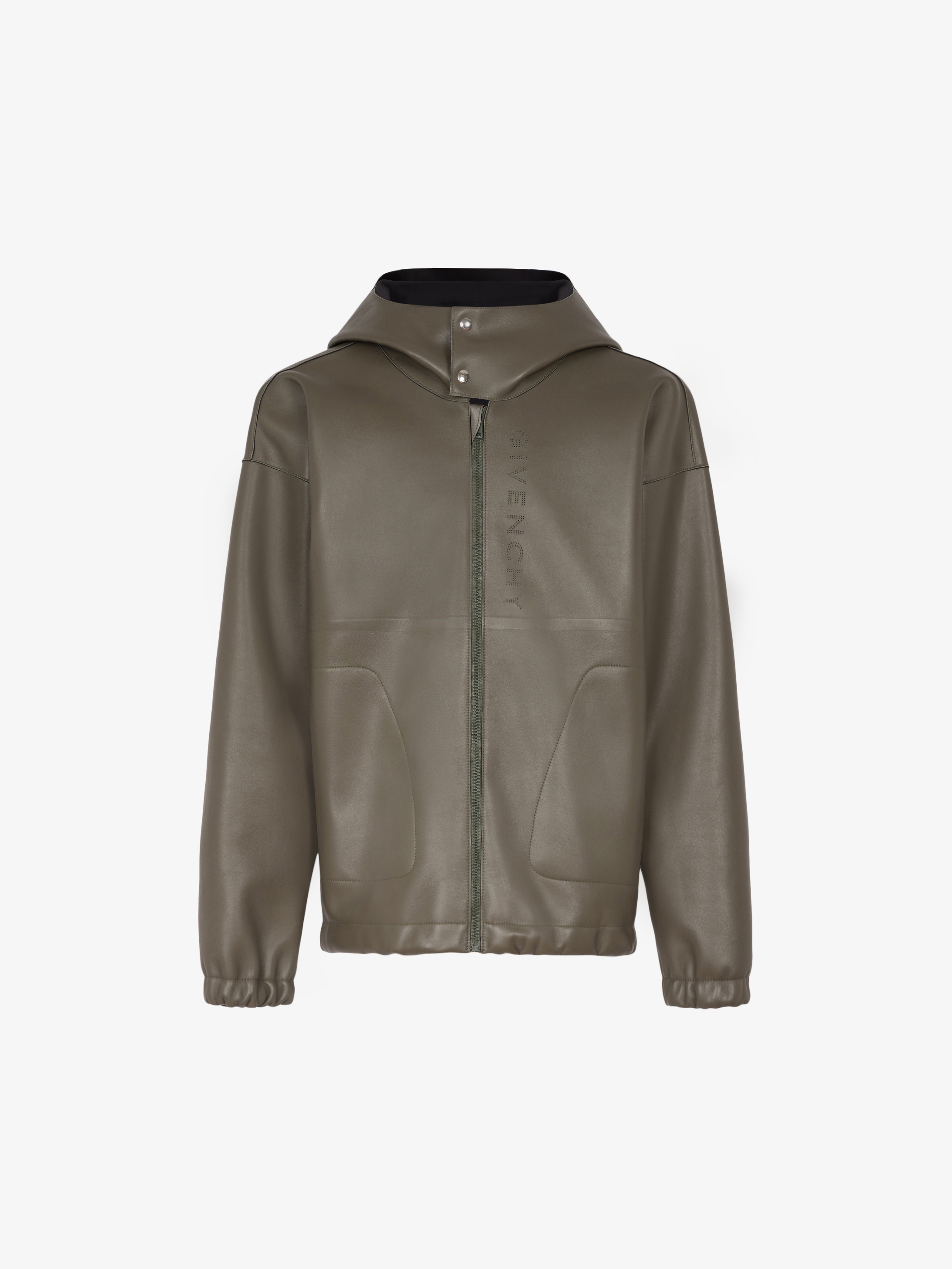 GIVENCHY hooded jacket in leather