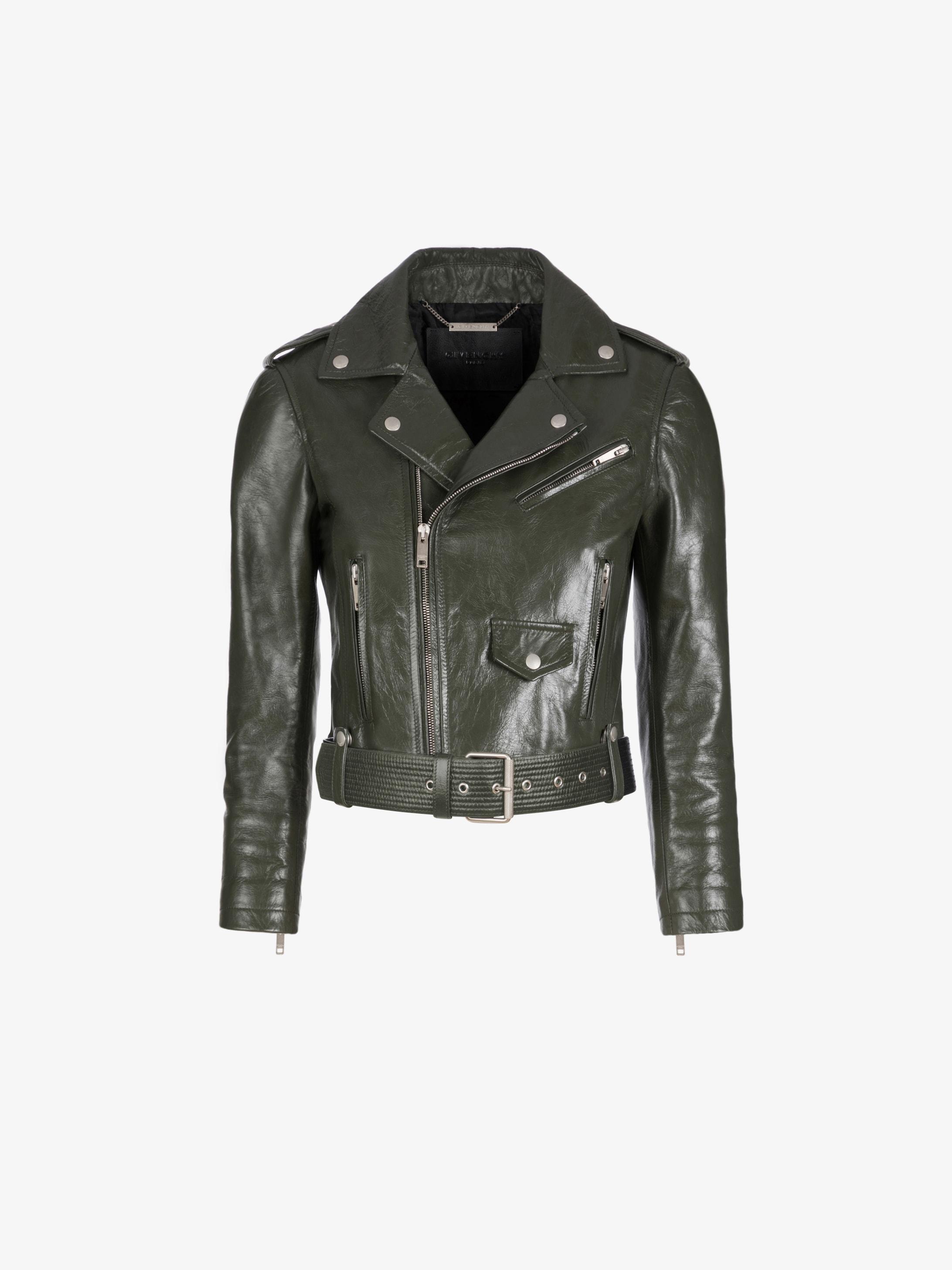 Biker jacket in vintage leather