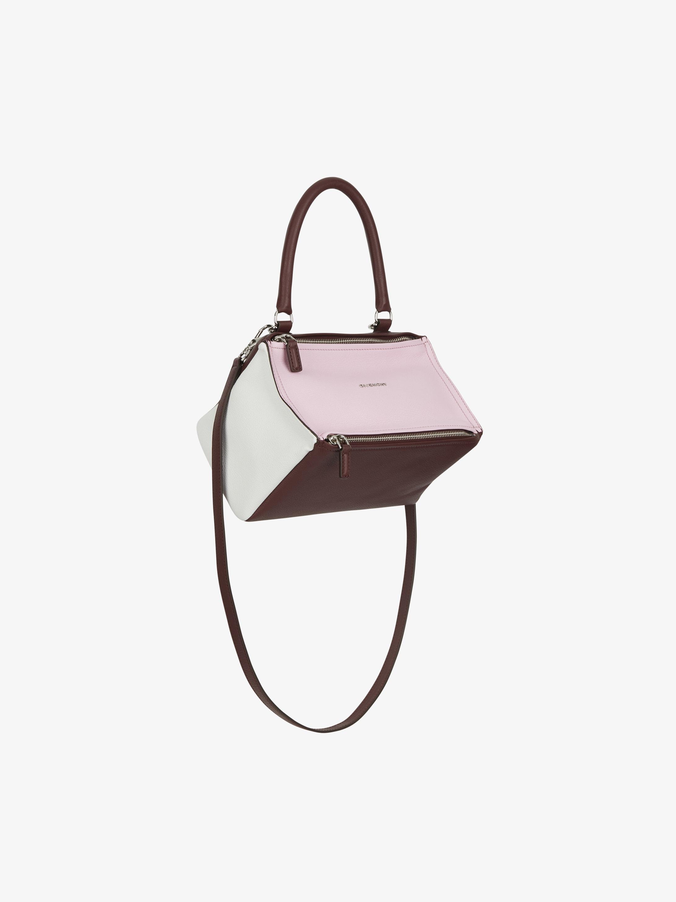 Tricolor small Pandora bag