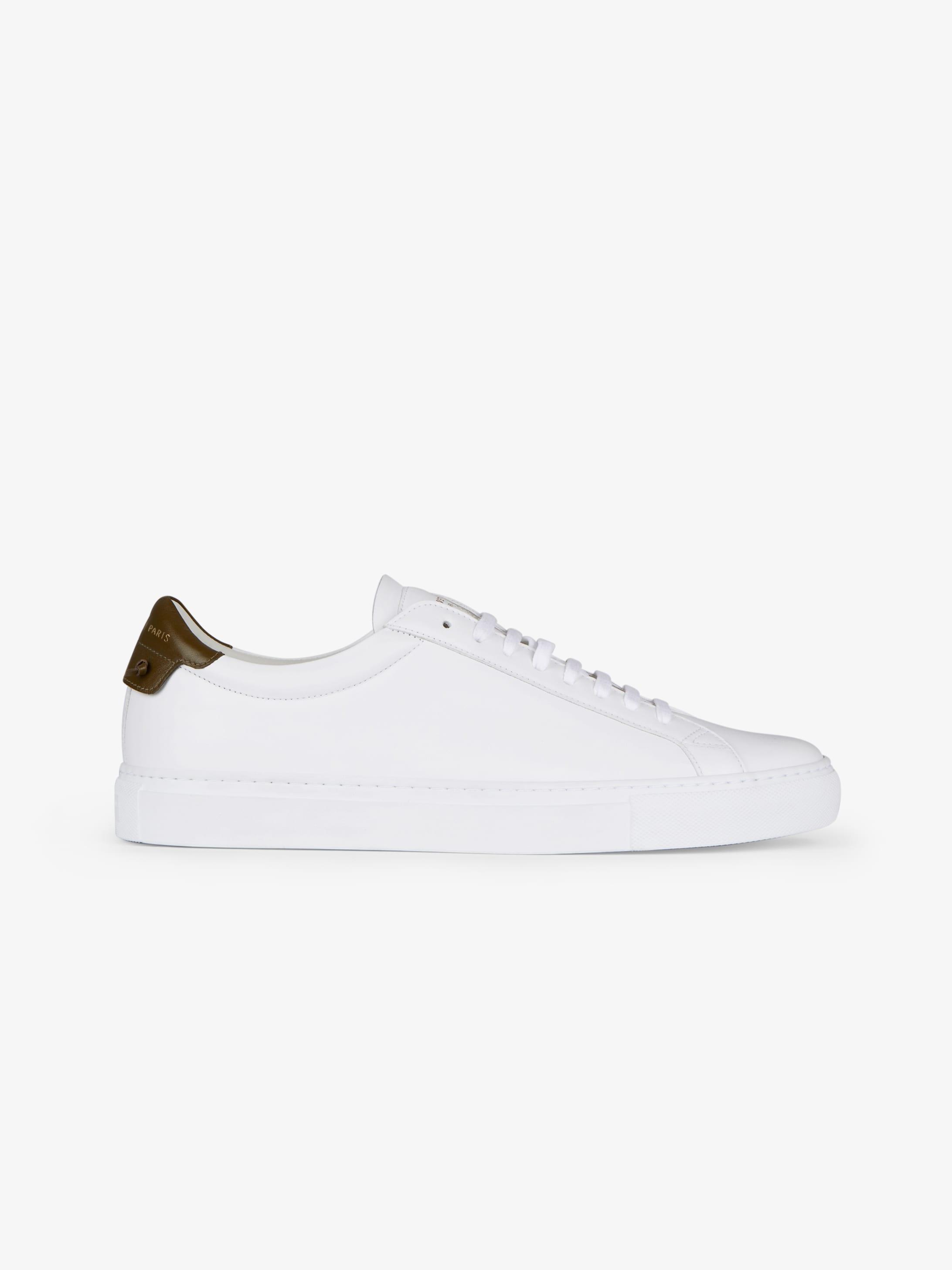 Sneakers en cuir mat bicolore