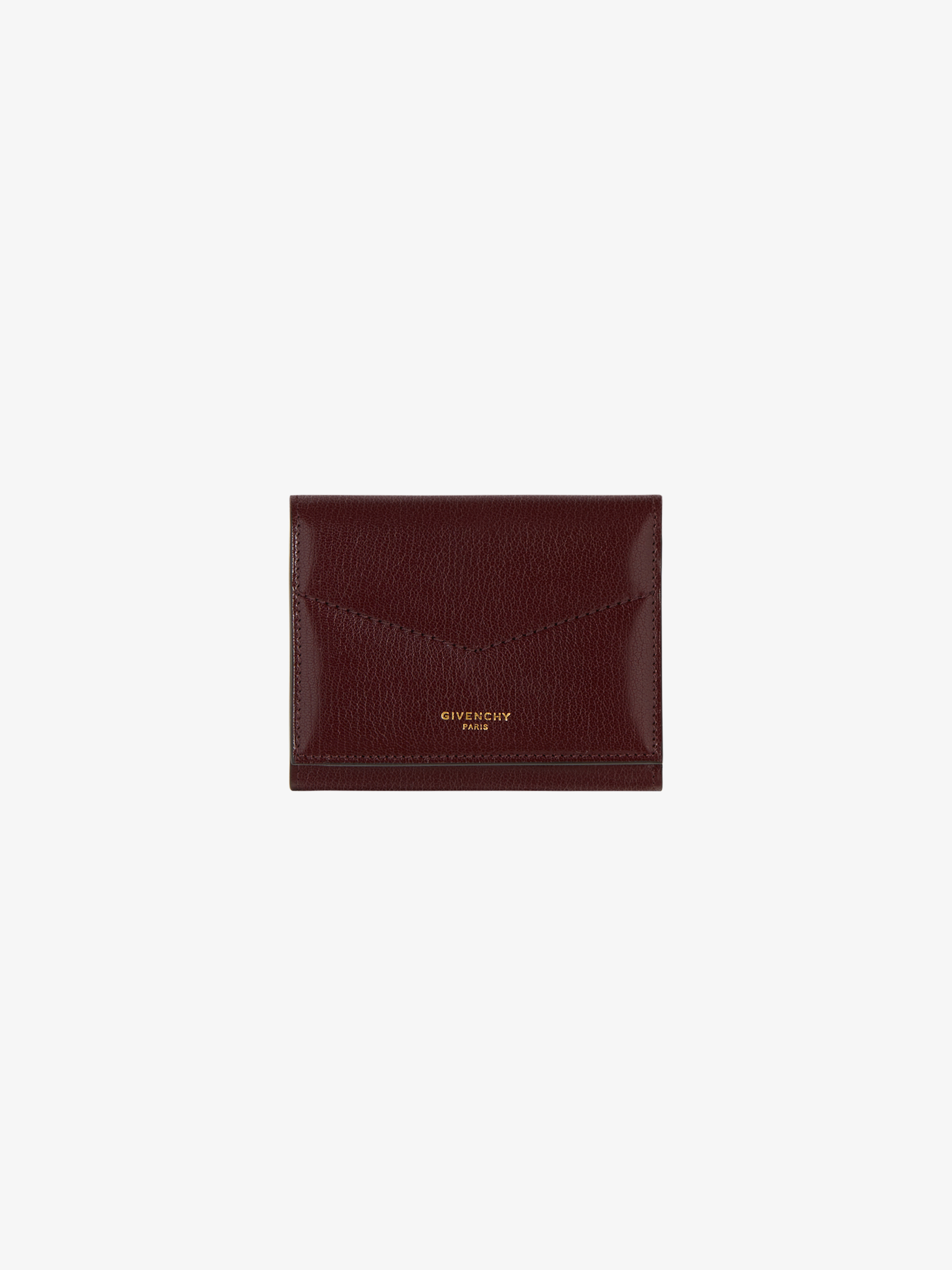 Tri-fold wallet in leather
