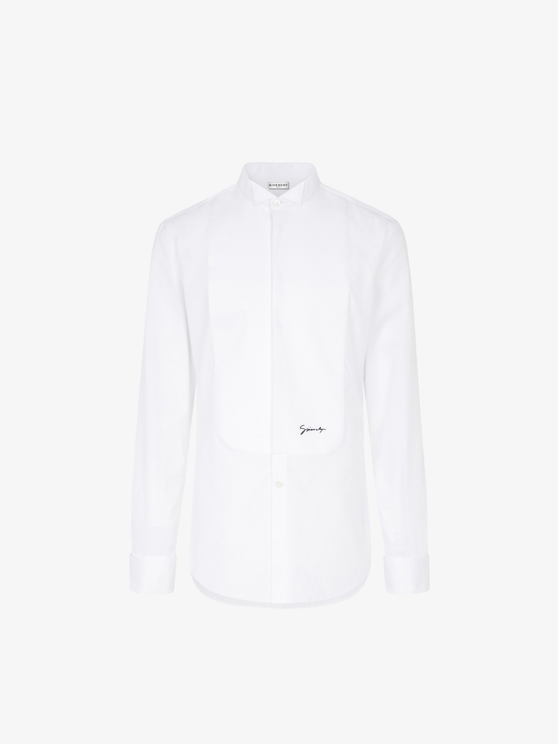 GIVENCHY plastron shirt and wing collar