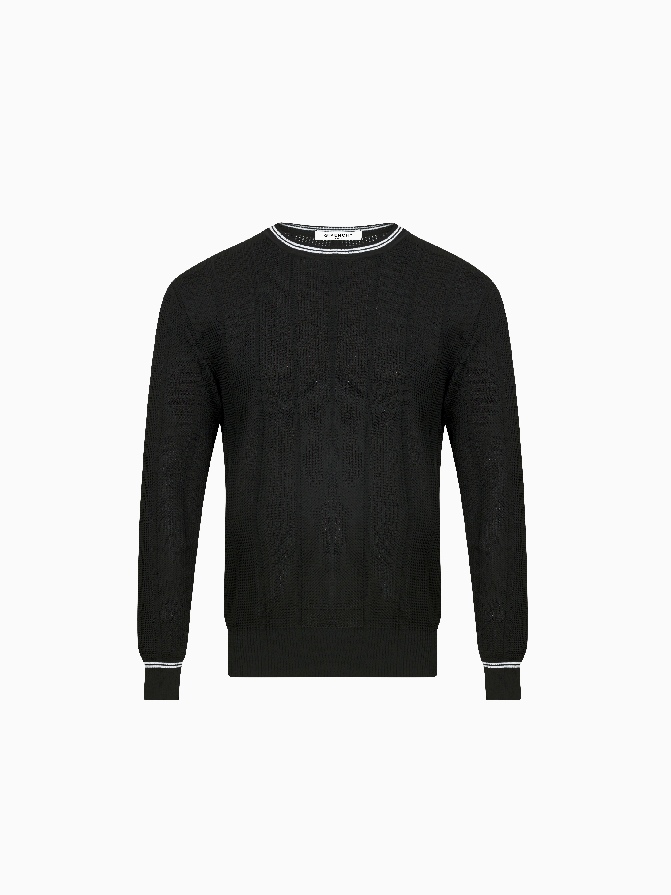 Mesh effect jumper with contrasting details