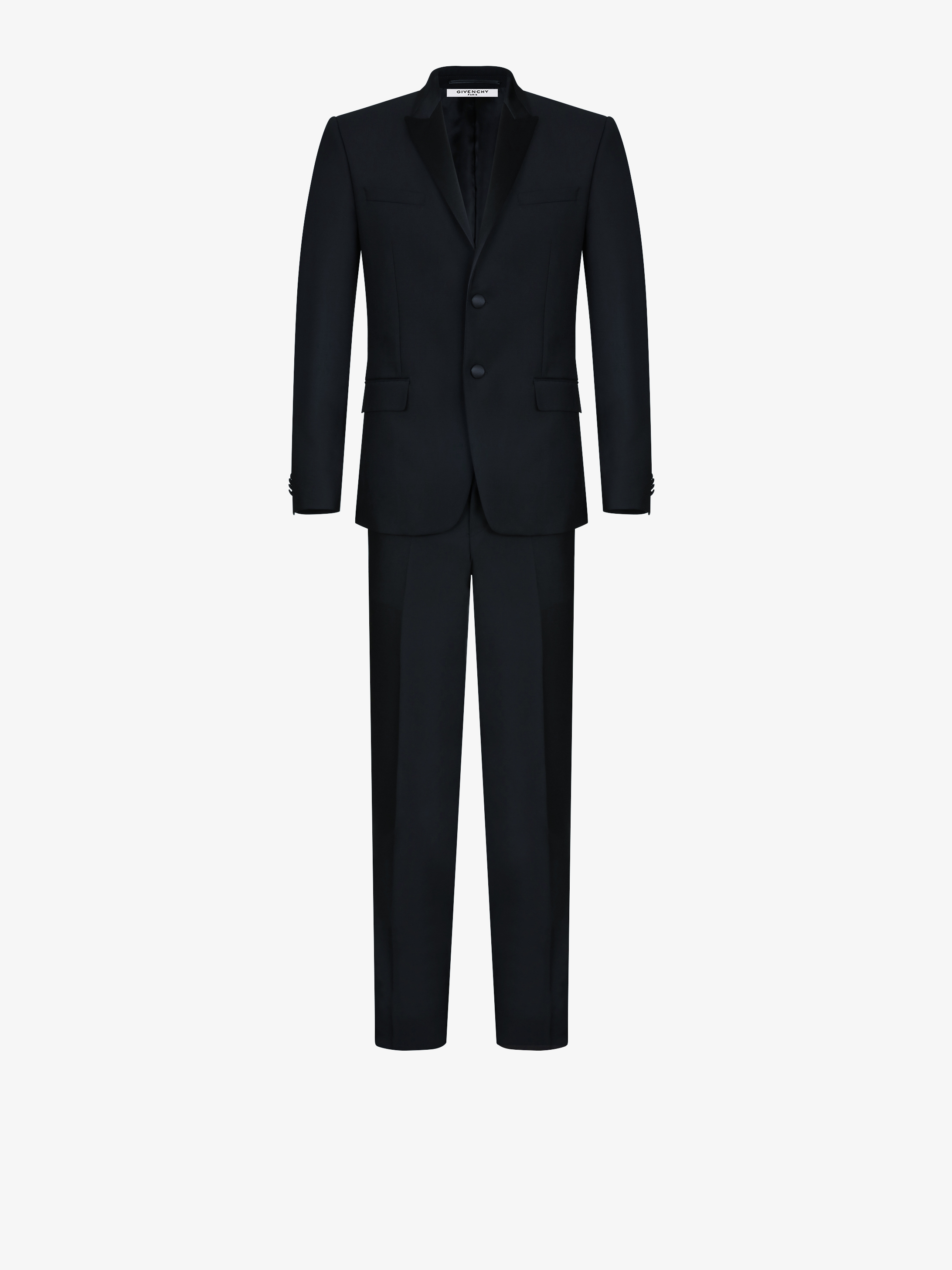 Slim fit suit  with satin collar