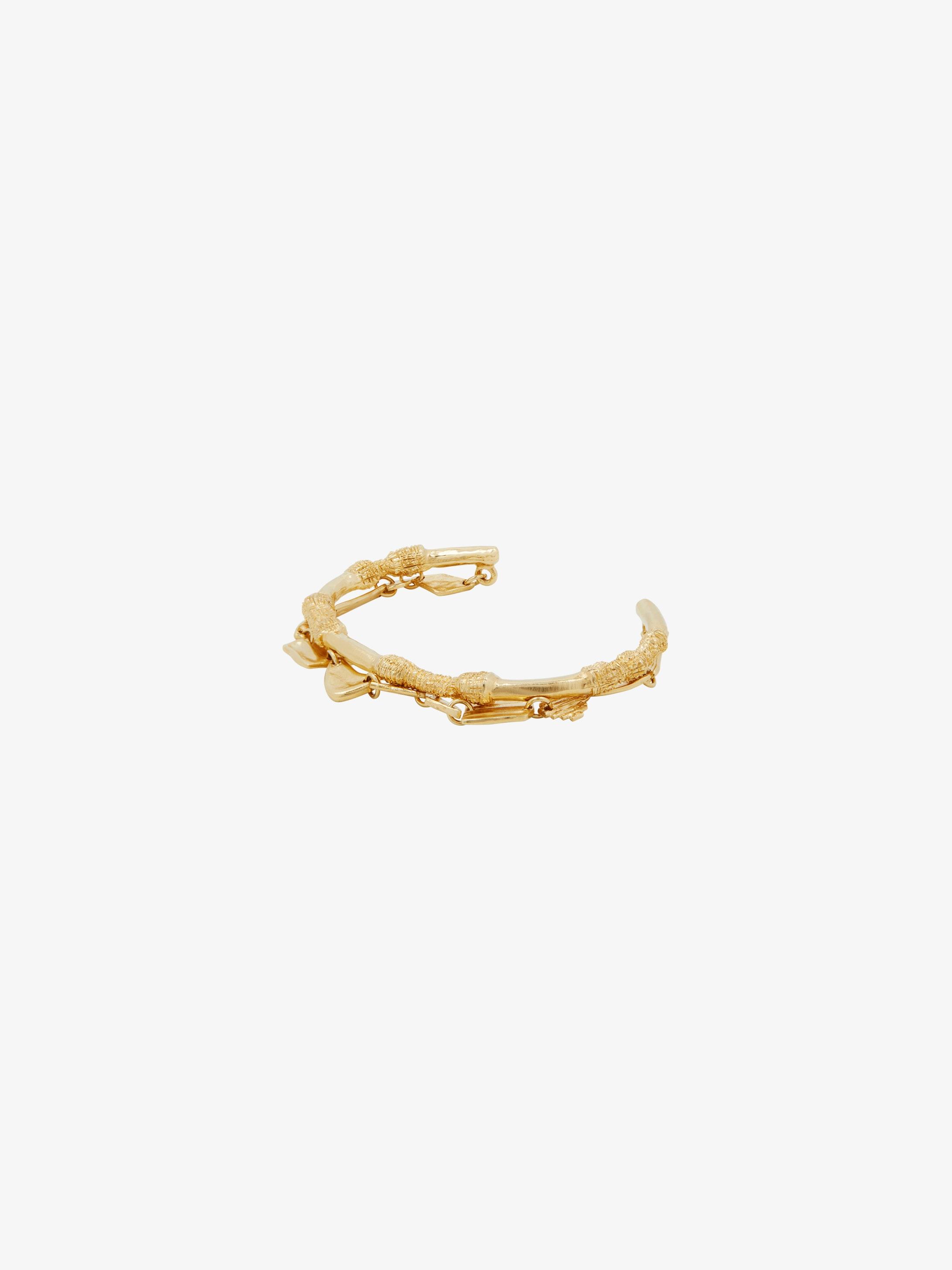 Bracelet en laiton à deux rangs