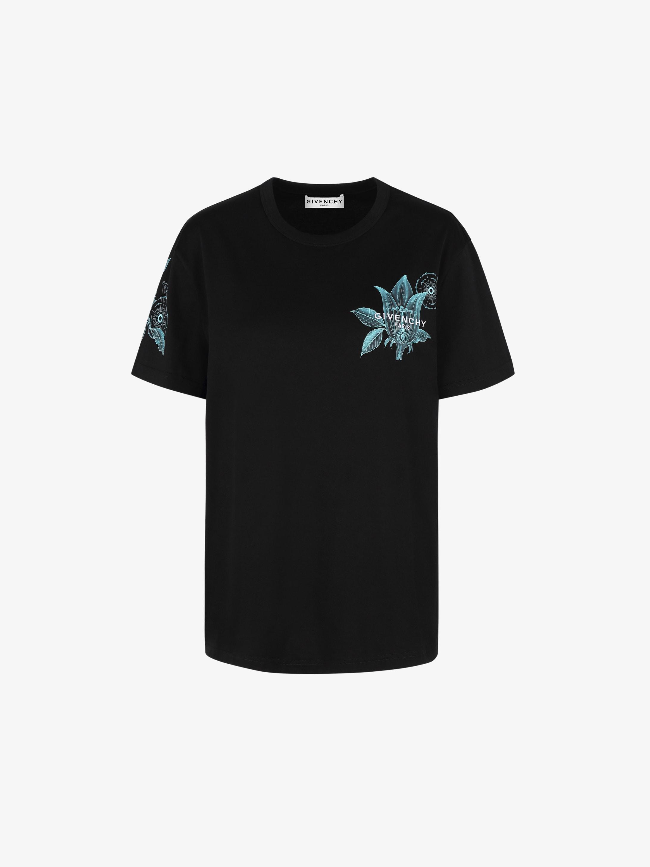 花卉Schematics修身T恤