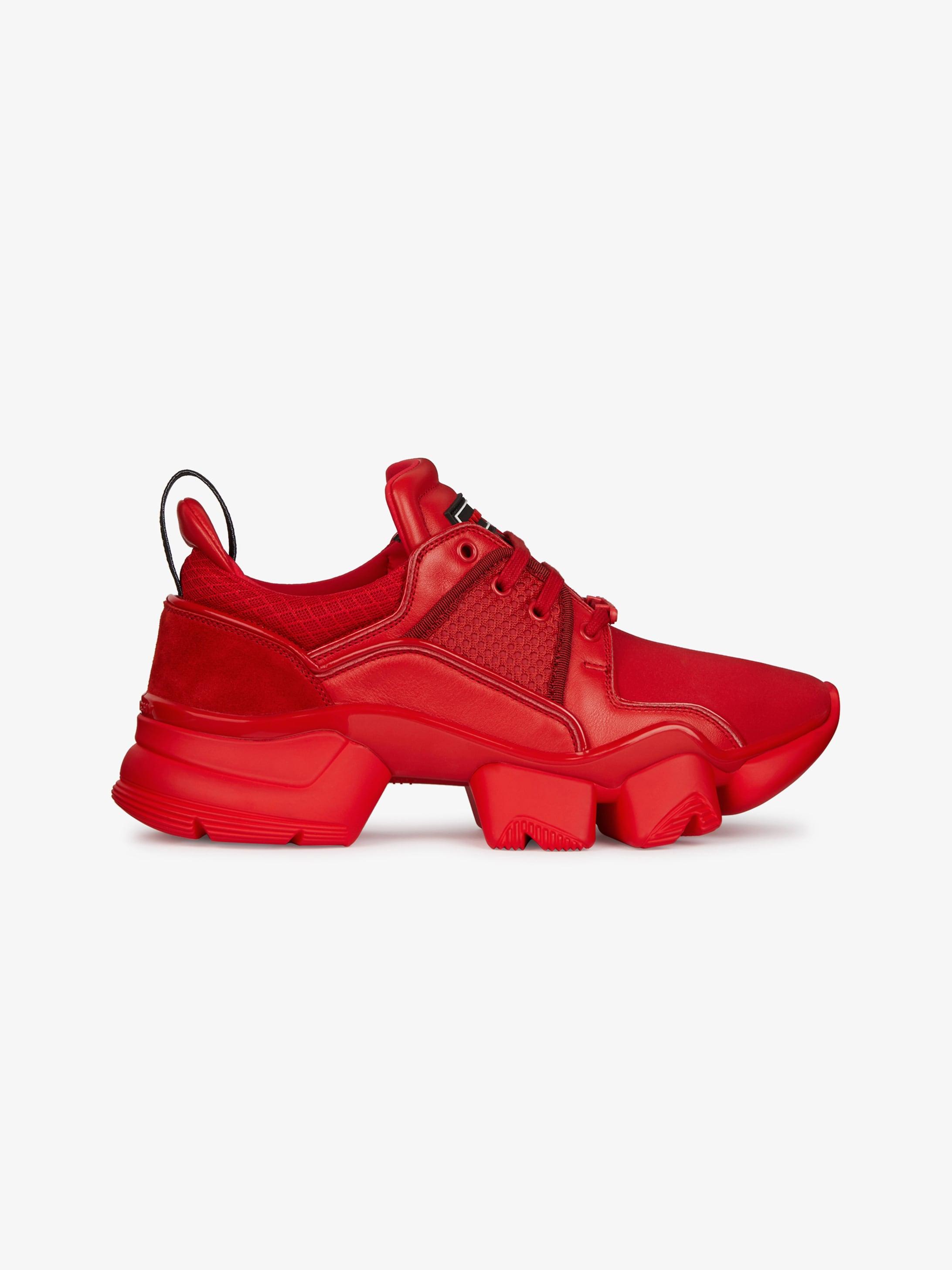 Jaw low sneakersinneoprene and leather